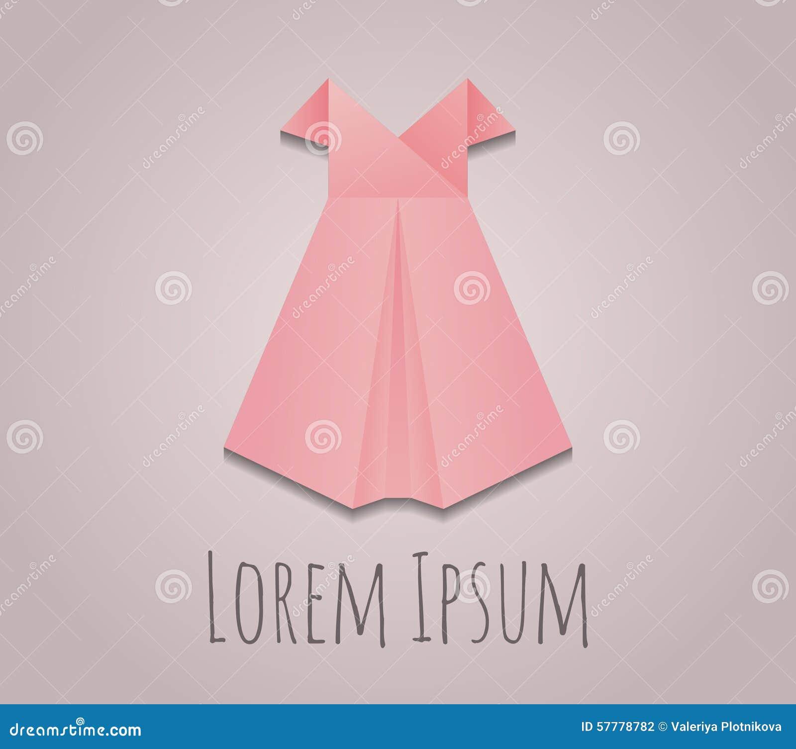 Robe de papier d 39 origami de vecteur illustration de vecteur image 57778782 - Robe en origami ...