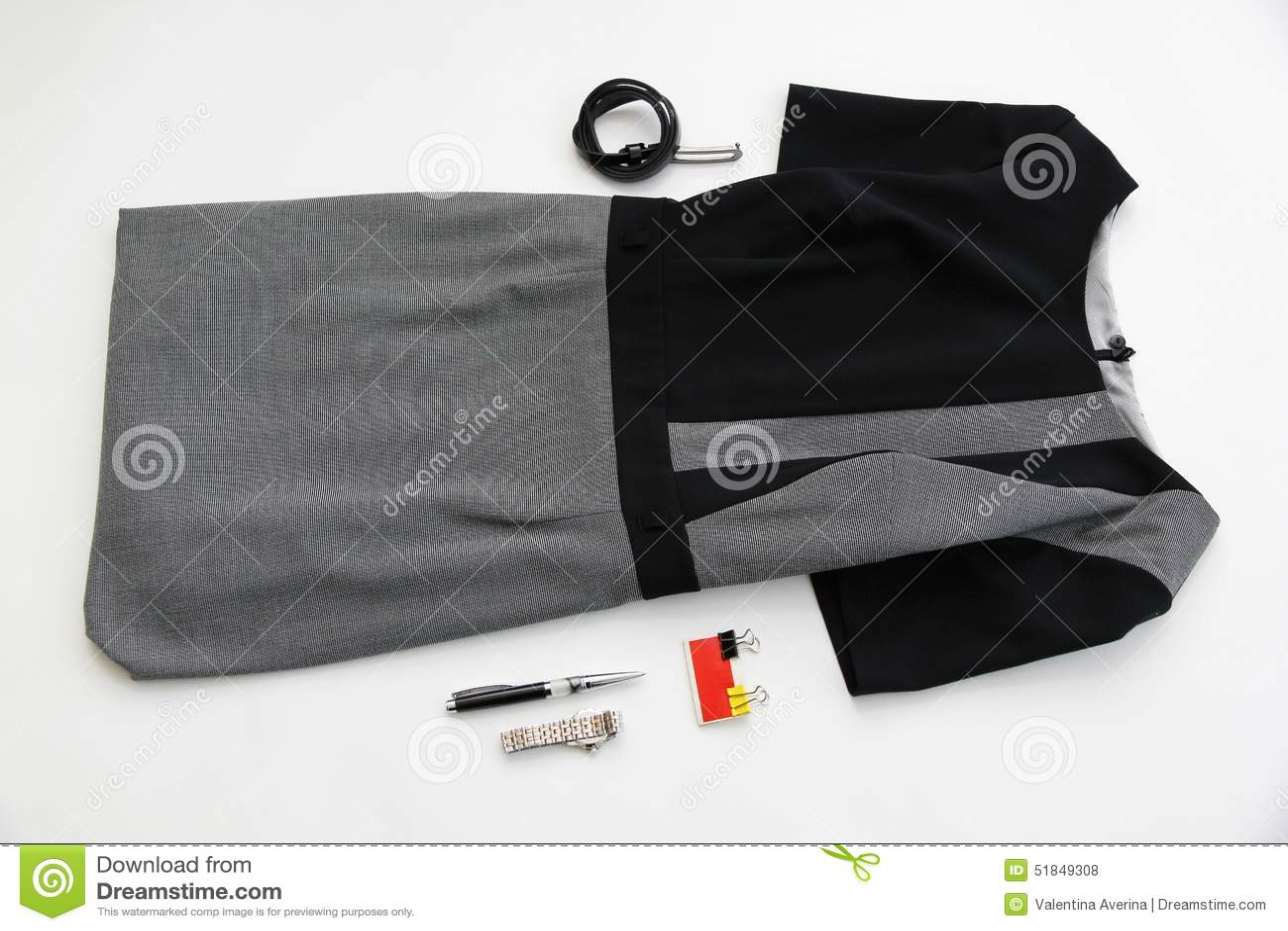 Robe et accessoires pour le bureau business la fleur de jour donne à
