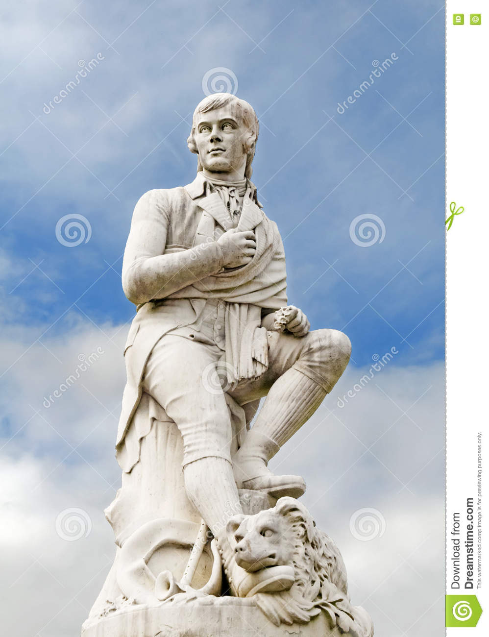 Robert Burns - statue, Dumfries