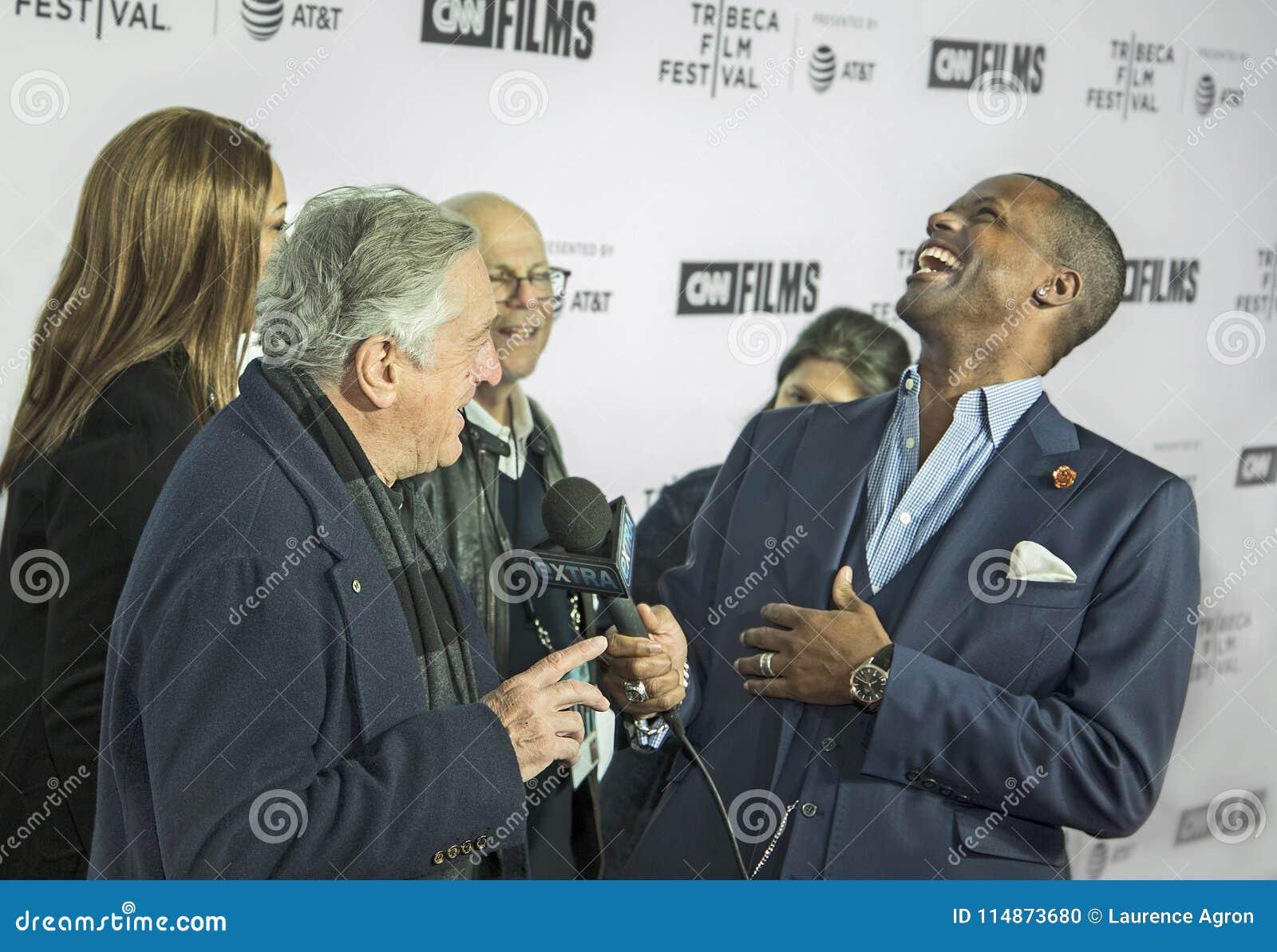 Robert DeNiro Interviewed el noche de la inauguración del 17mo festival de cine de Tribeca