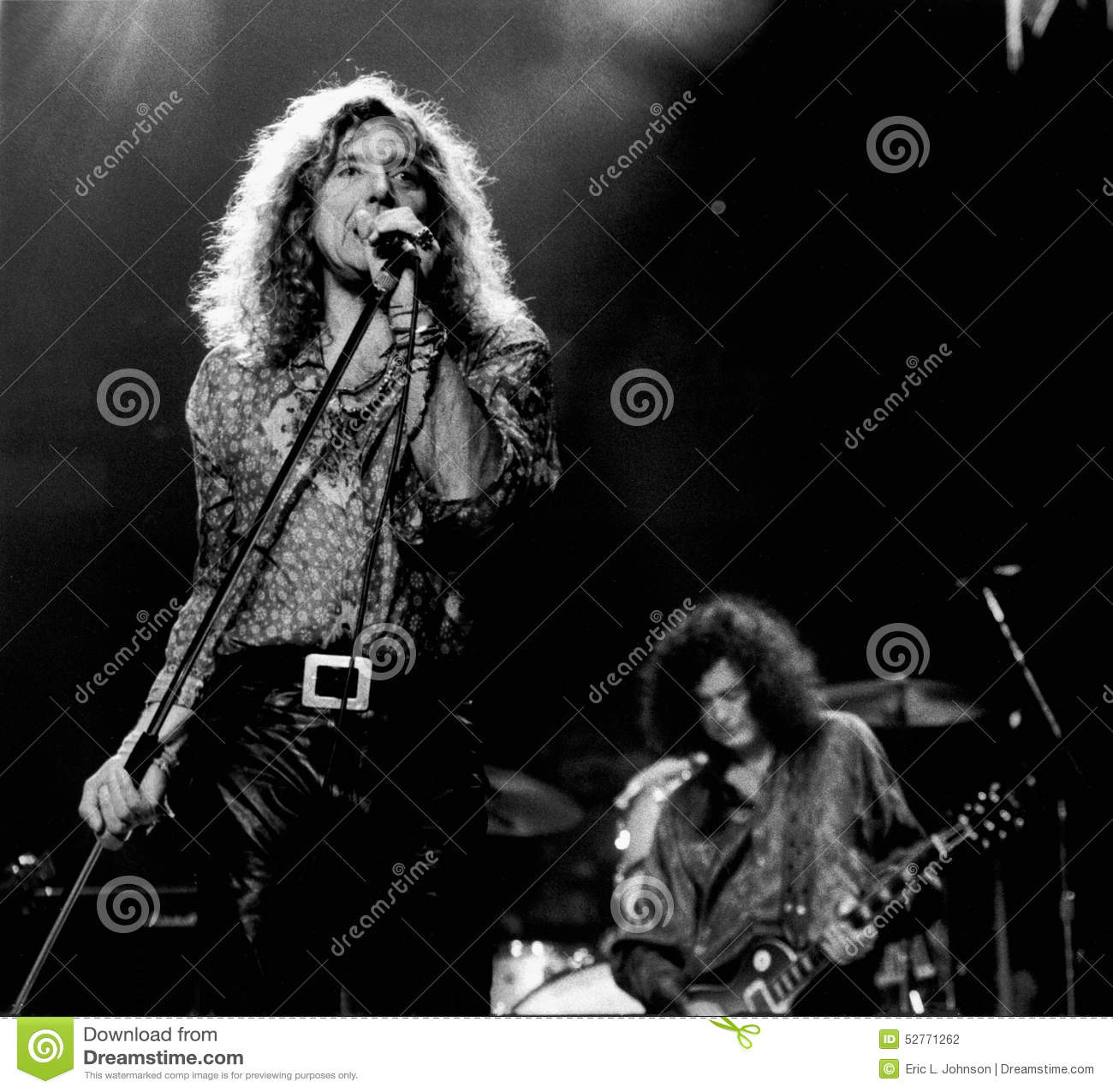 Robert Plant, Jimmy Page & Kwiecień 9 Erick L -, 1995, Boston ogród - johnston