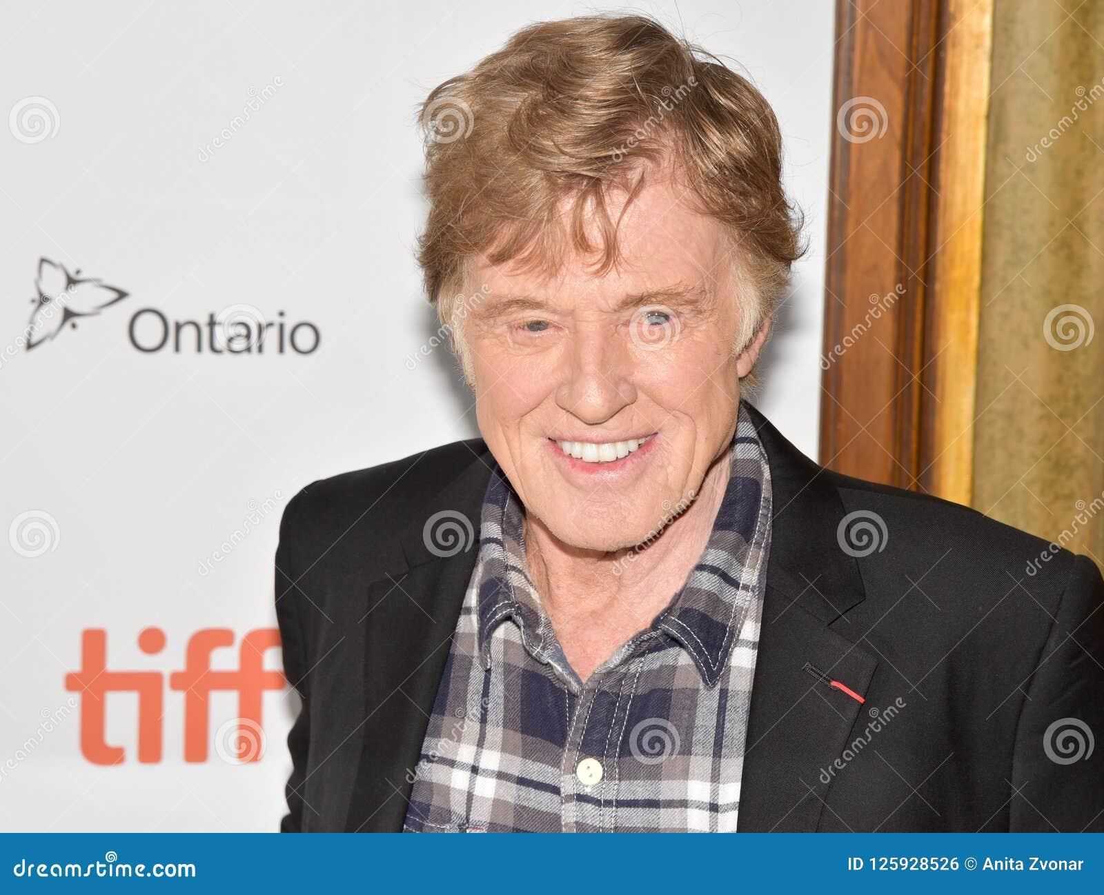 Robert Redford på premiären av gamala mannen & vapnet på Toronto den internationella filmfestivalen 2018