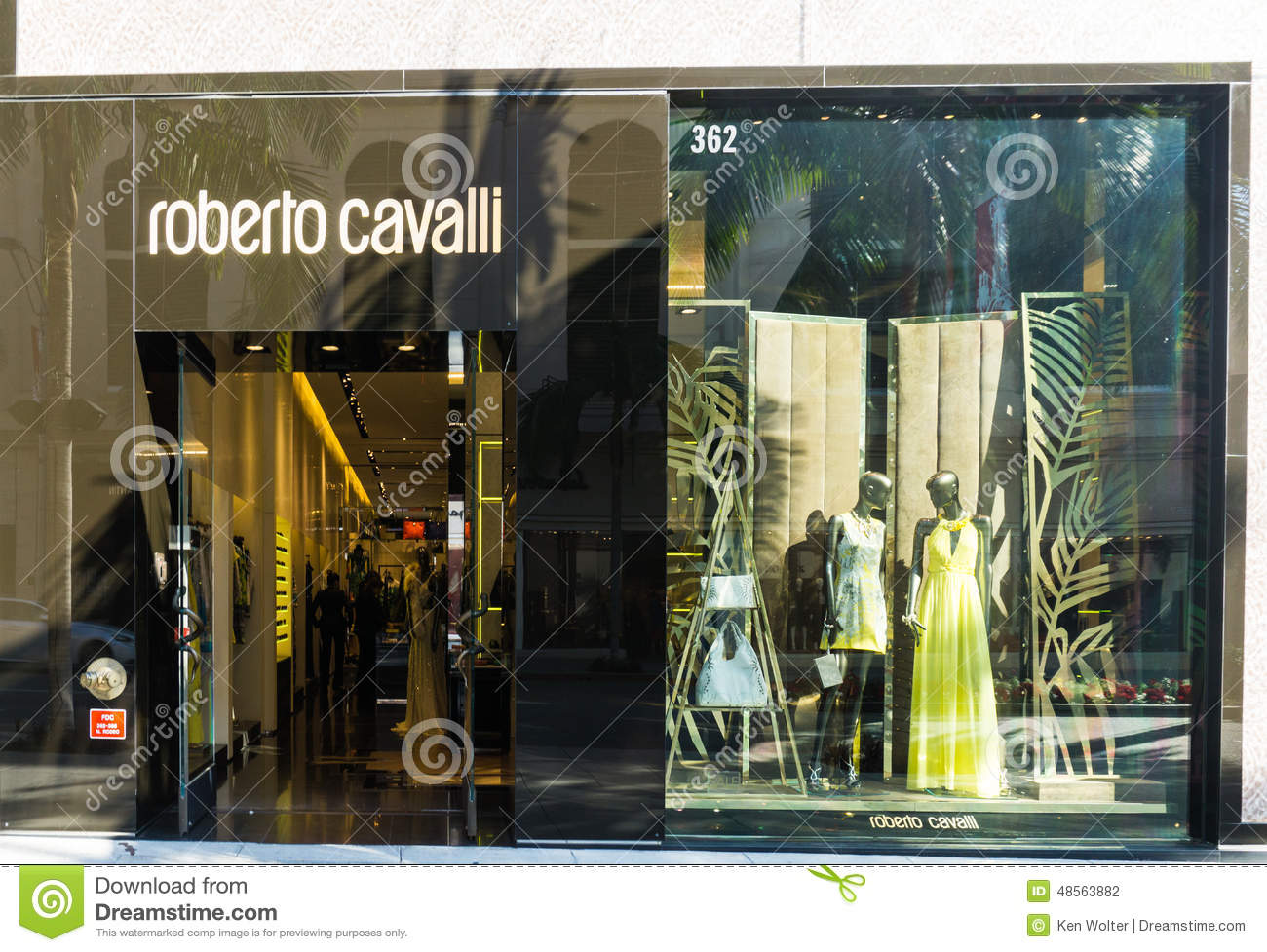 Roberto Cavalli Store Exterior Editorial Photography Image Of Gallery Beverly 48563882