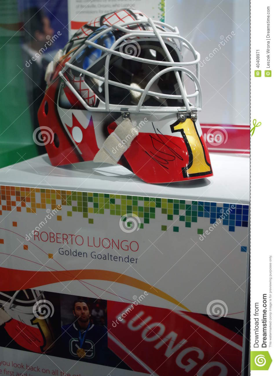 Roberto Luongo Helmet Editorial Photo Image Of Vancouver 40408971