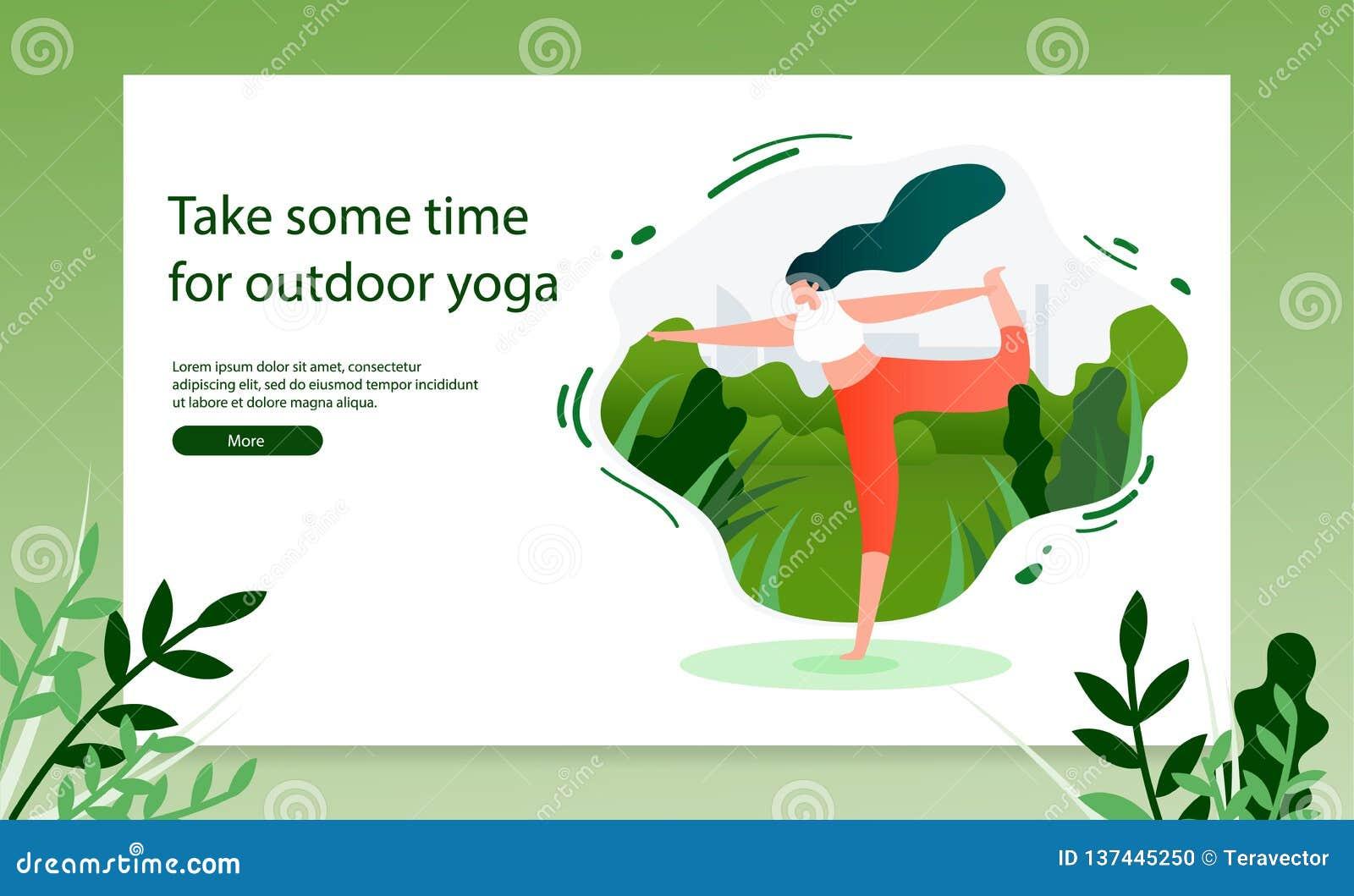 Robić joga ćwiczeń sieci Plenerowemu Wektorowemu sztandarowi