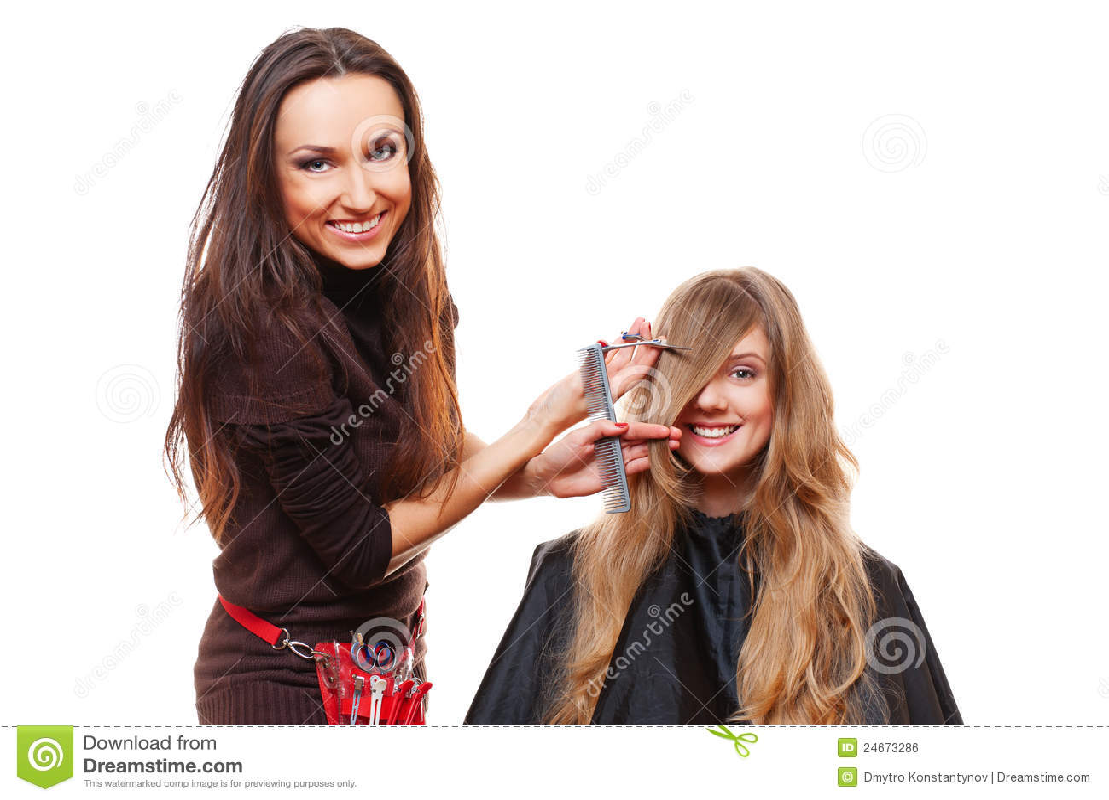 Robić ostrzyżenia fryzjera obrazka studiu