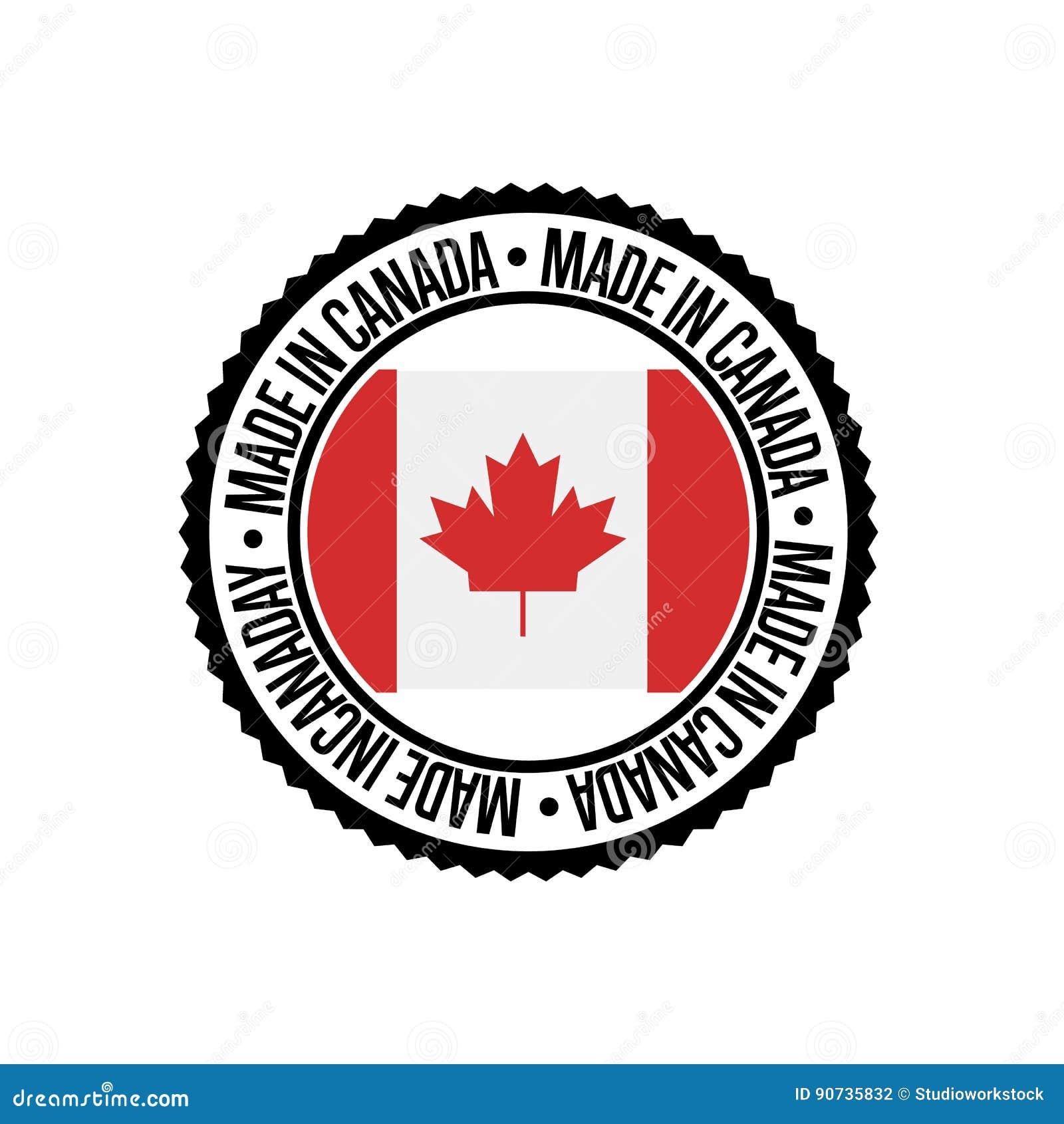 Robić w Kanada round pieczątce dla produktów