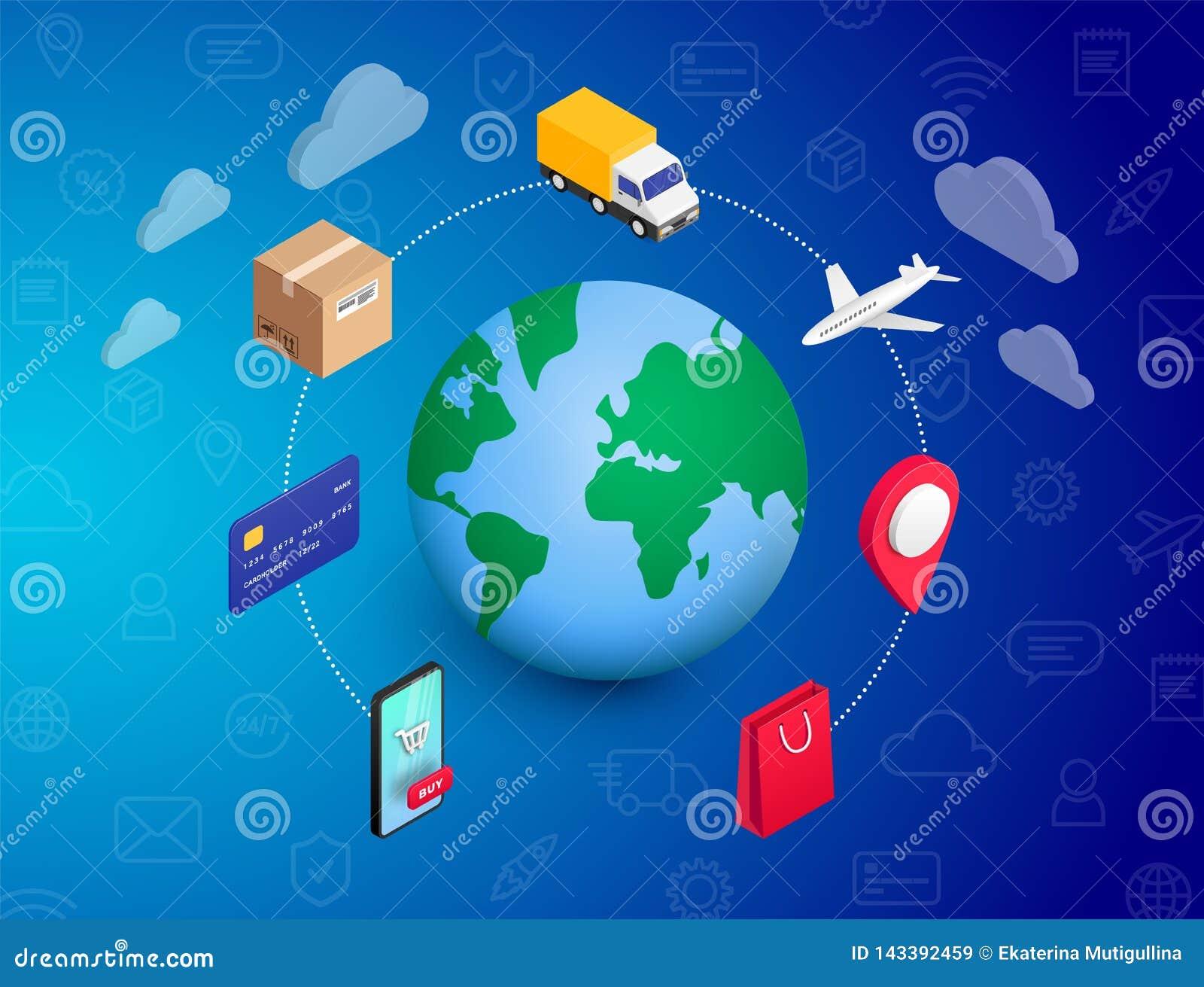 Robić zakupy Online pojęcie planetę