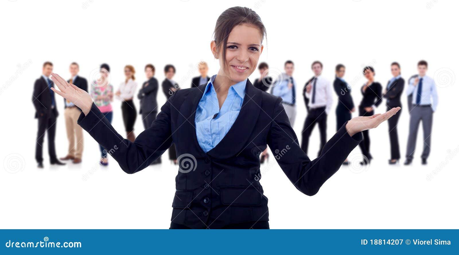 Robi powitaniu gesta biznesowy lider