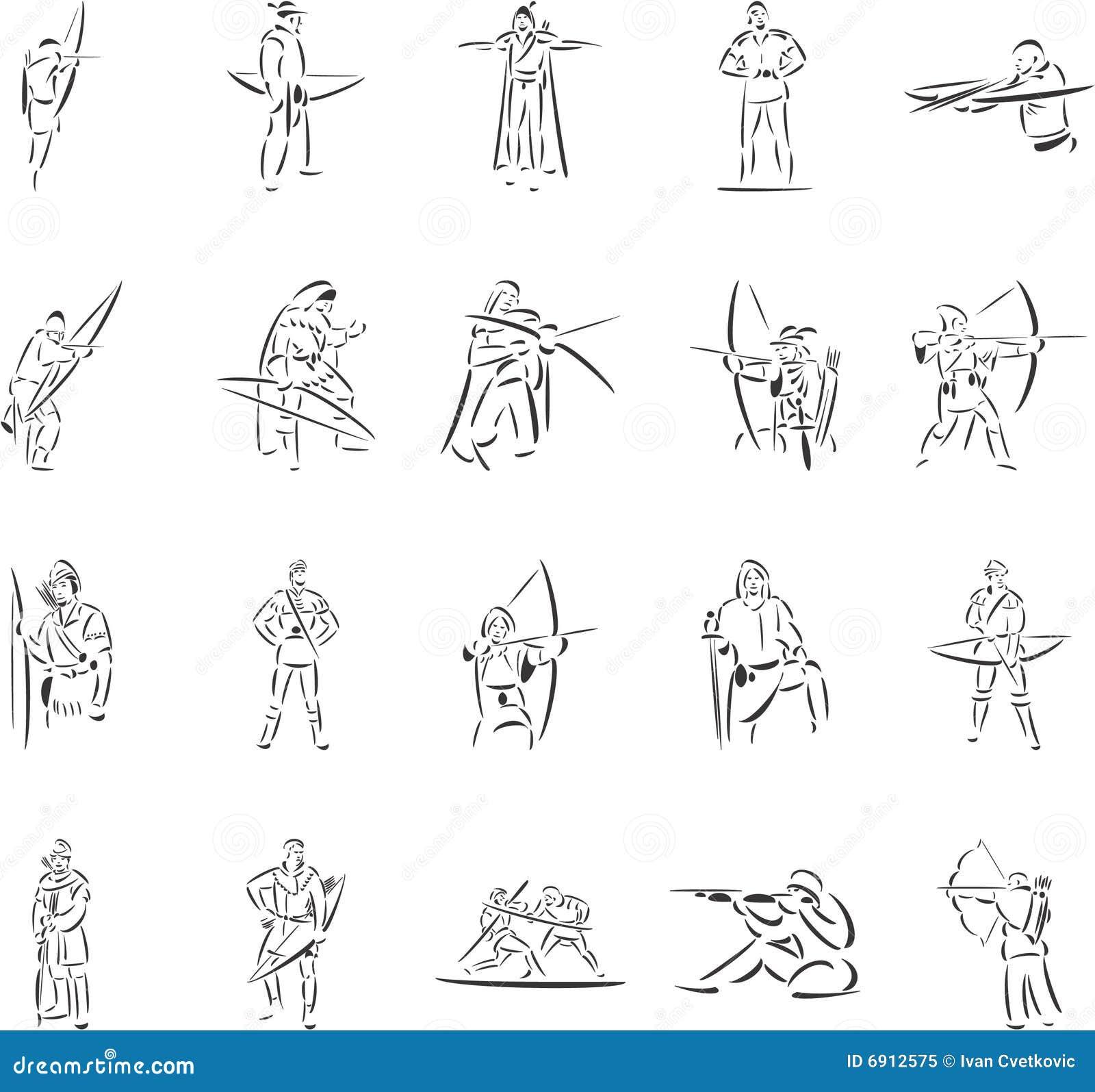 robin hood stock vector illustration of arrow sword 6912575
