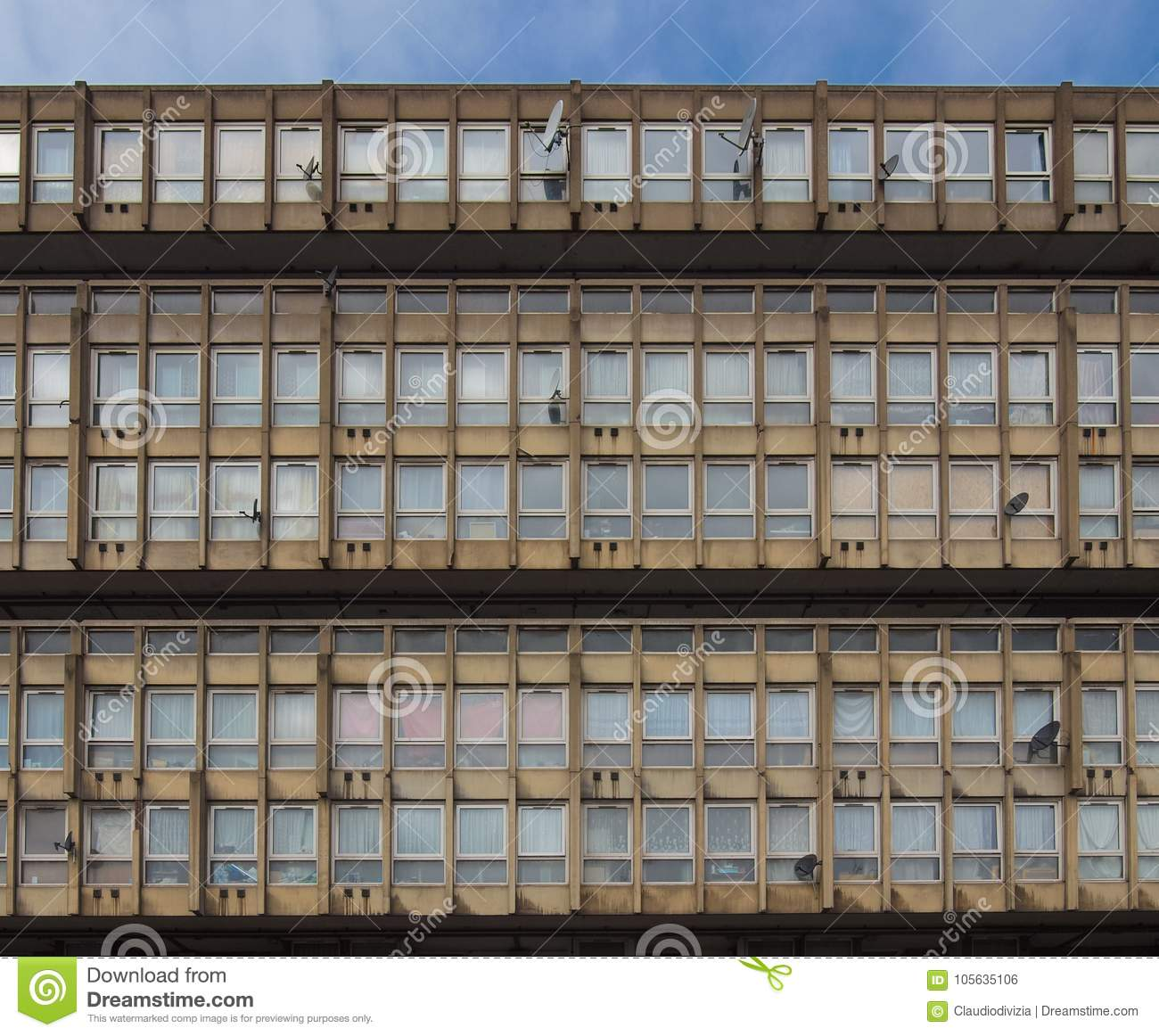 Robin Hood Gardens In London Stock Photo - Image of england, britain
