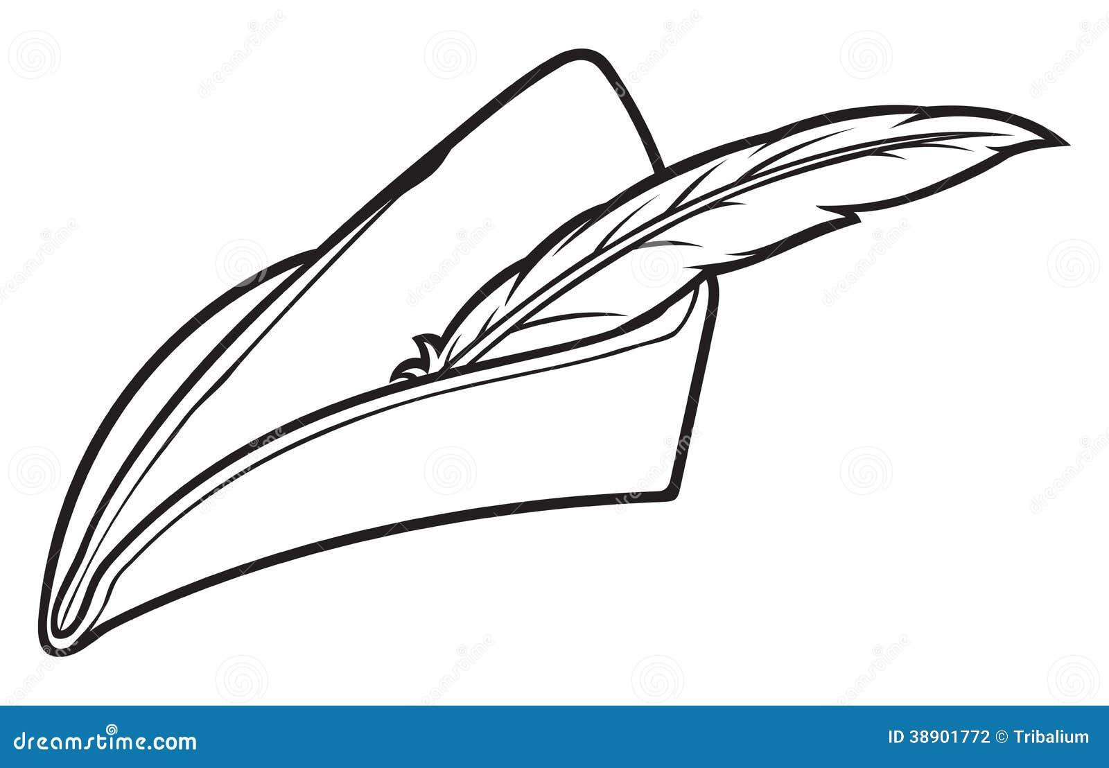 Robin Hood Hut Vektor Abbildung Illustration Von Pfeil 38901772