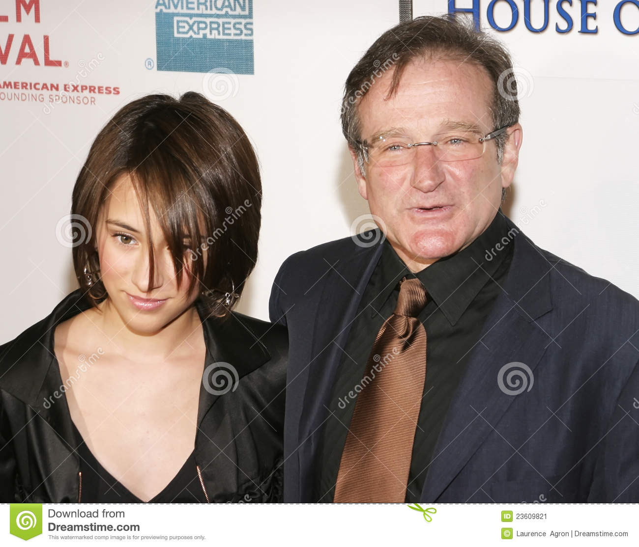 Robin Williams Et Descendant Zelda Williams Photo Editorial Image