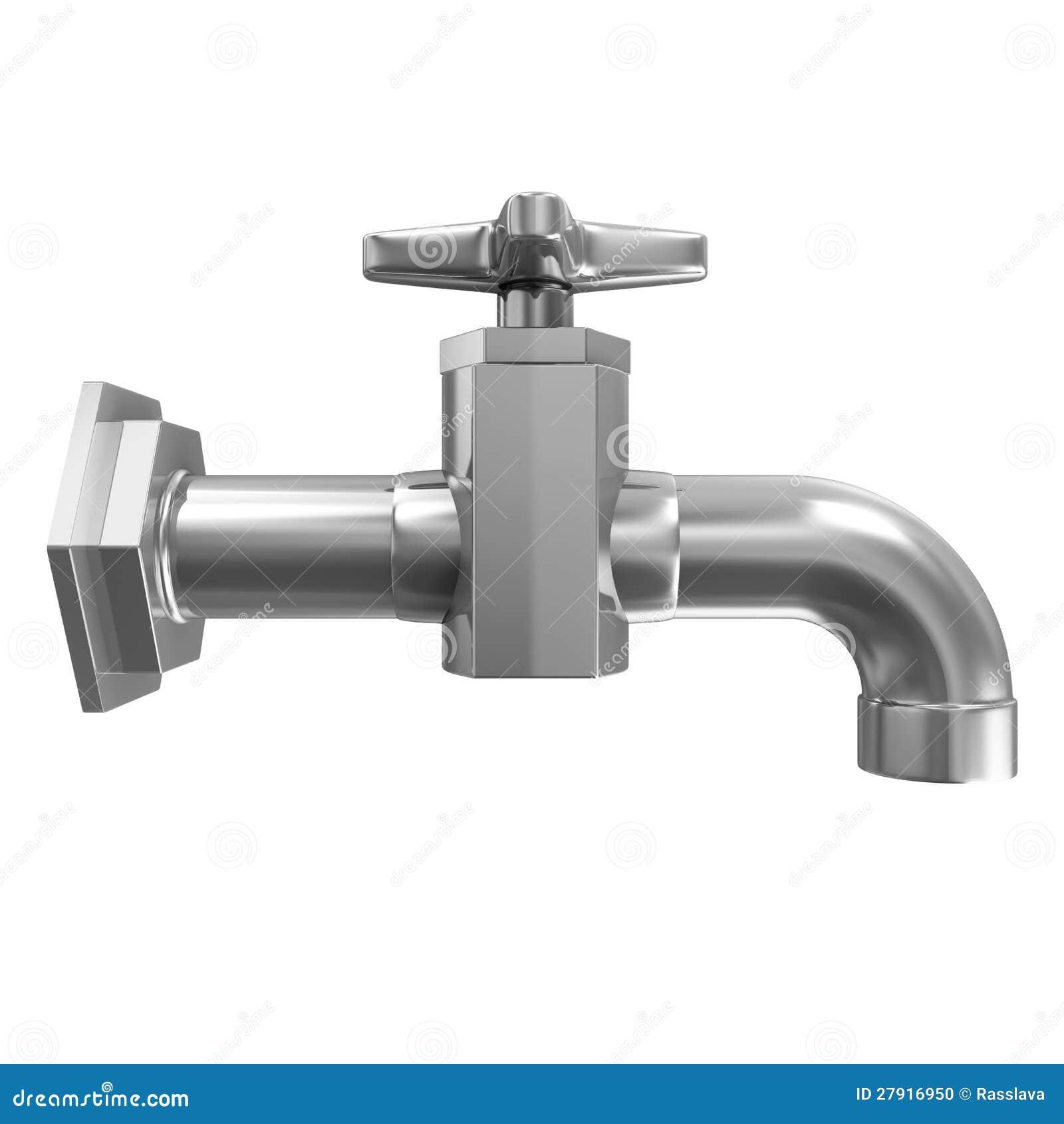 robinet d 39 eau d 39 isolement sur le fond blanc photo stock image 27916950. Black Bedroom Furniture Sets. Home Design Ideas