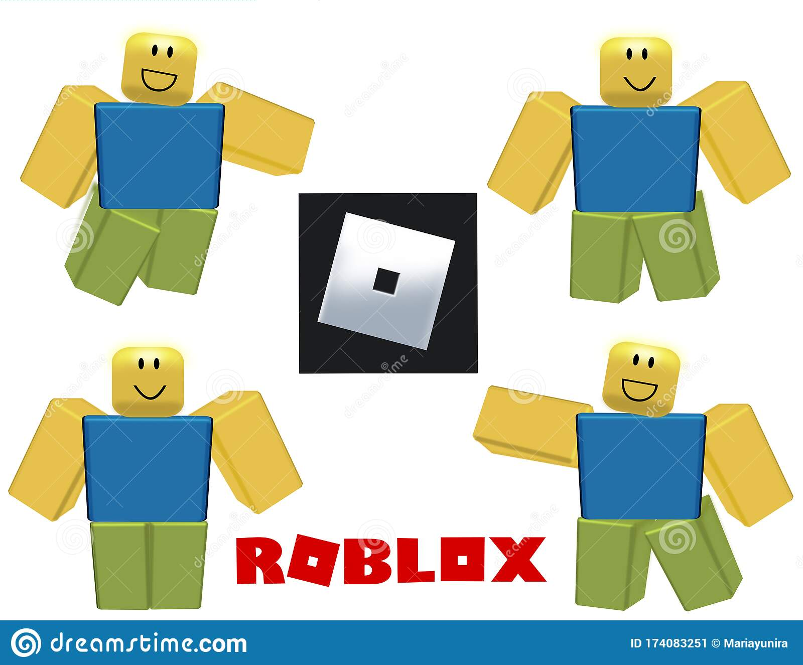 Roblox New Logo And Character Editorial Photo Illustration Of