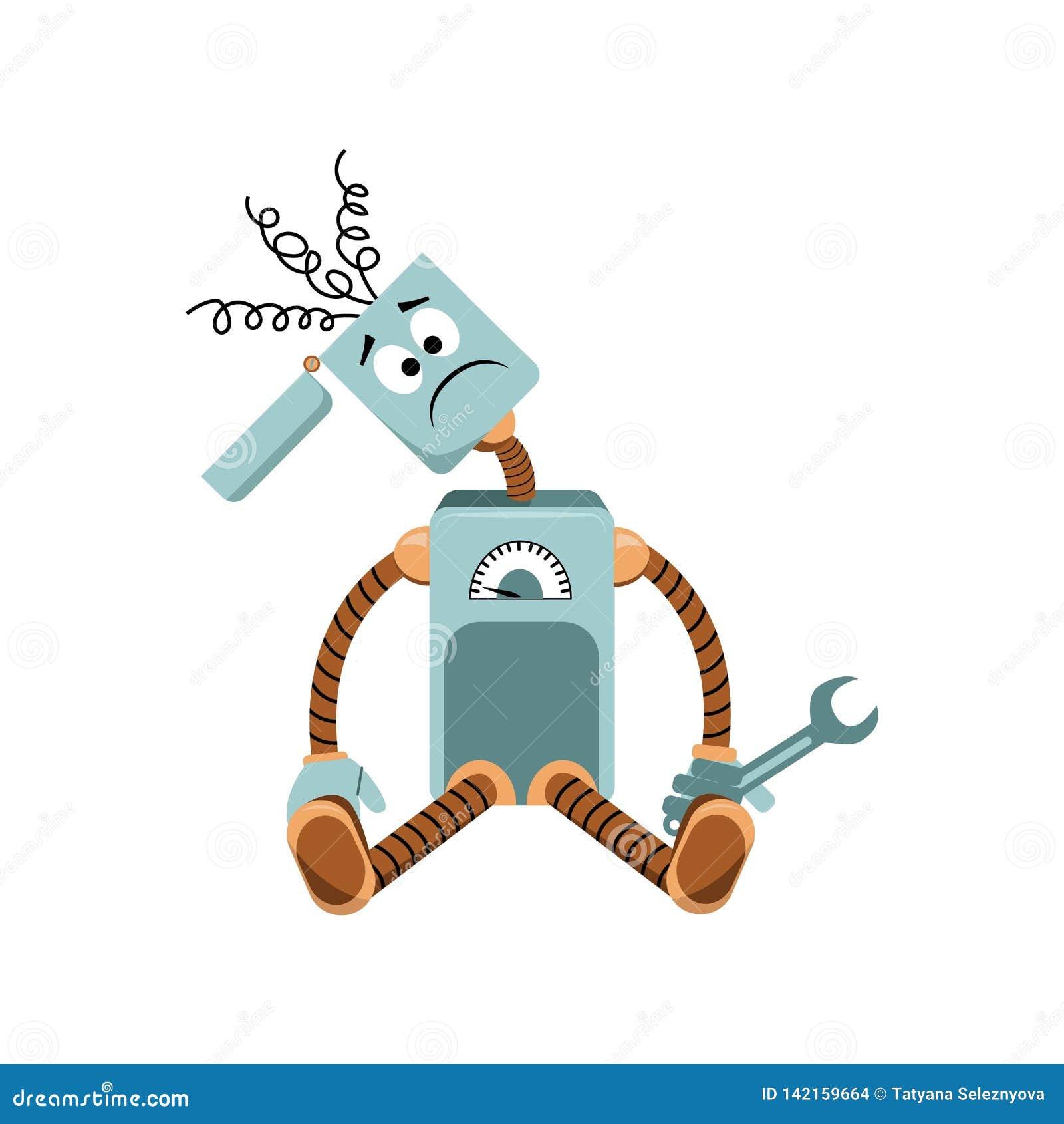Robot łamał, skacze klejenie z głowy, mienie wyrwanie