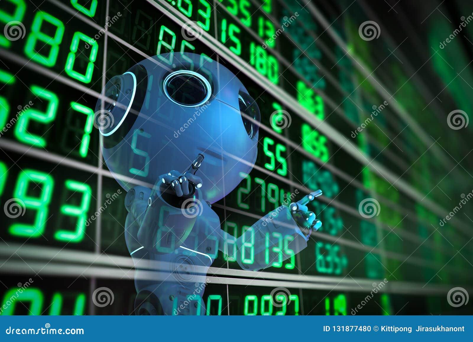 Robot analizuje rynek papierów wartościowych