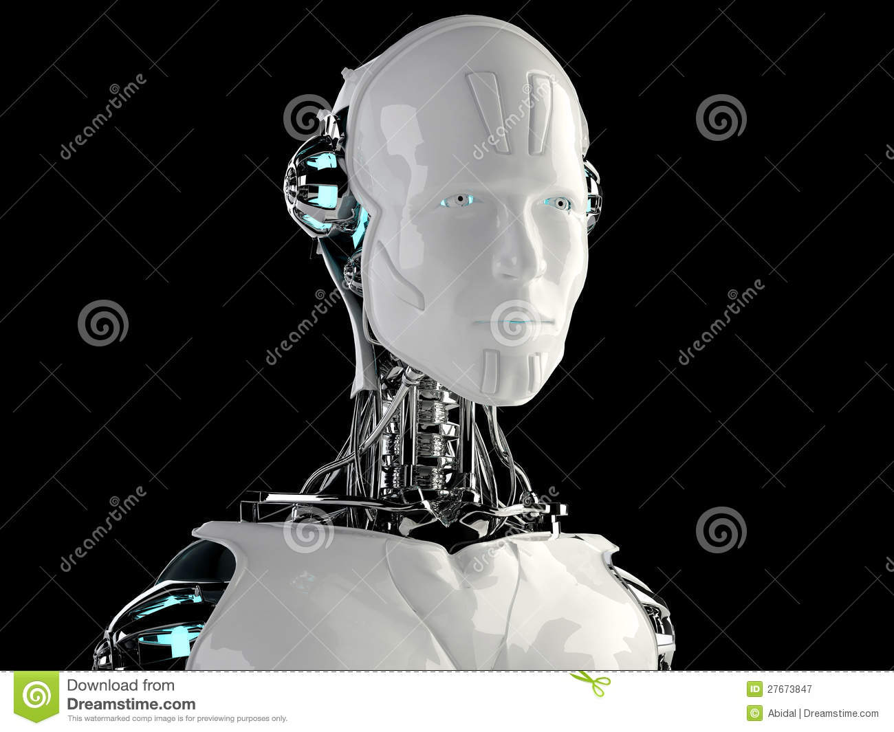 Robot Android Men Stock Illustration Illustration Of
