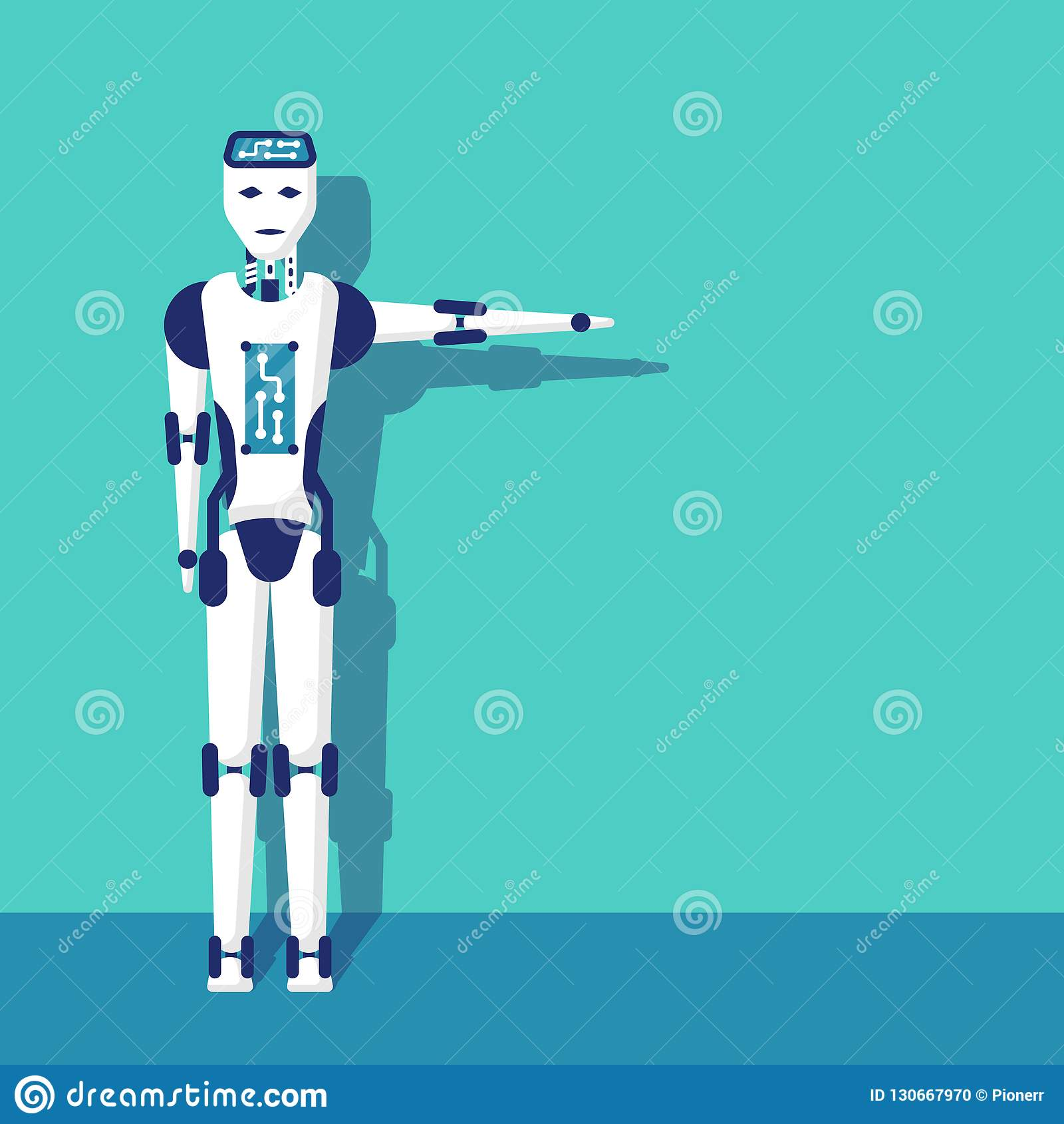 Robot arm pointing direction