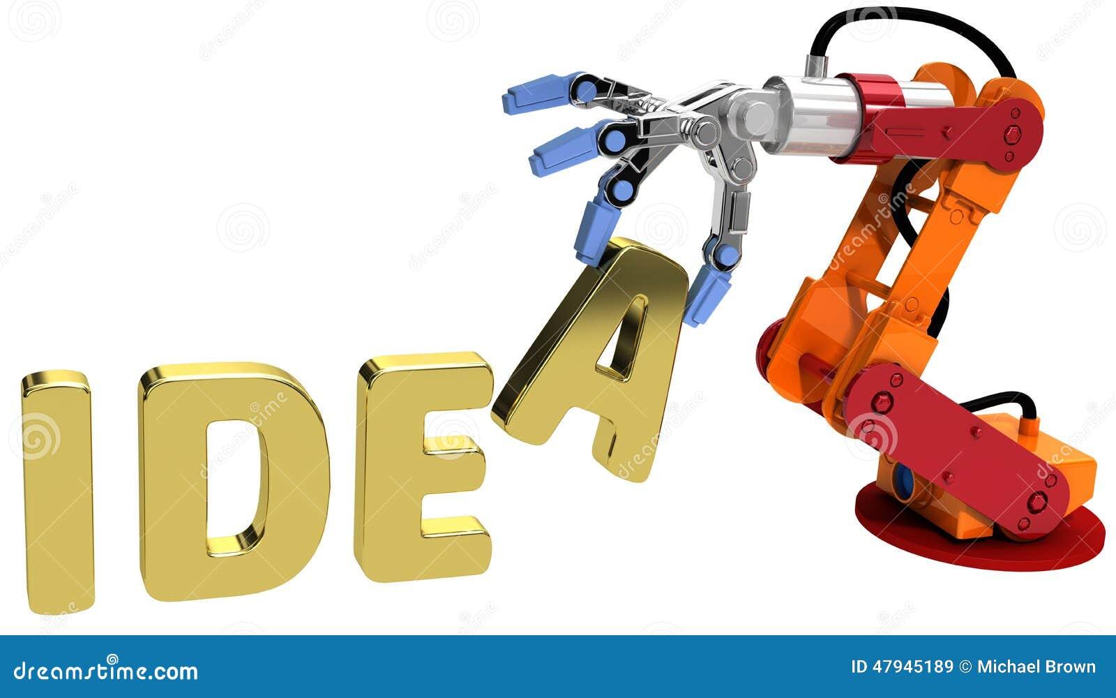 Robot Arm Technology Plan Idea Concept Stock Illustration