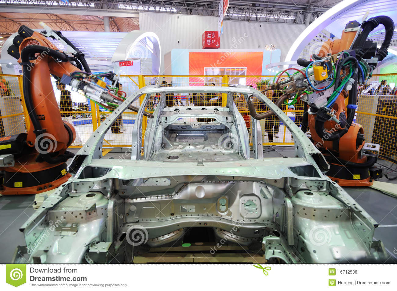 Robot Arm Used In Car Construction Editorial Stock Photo