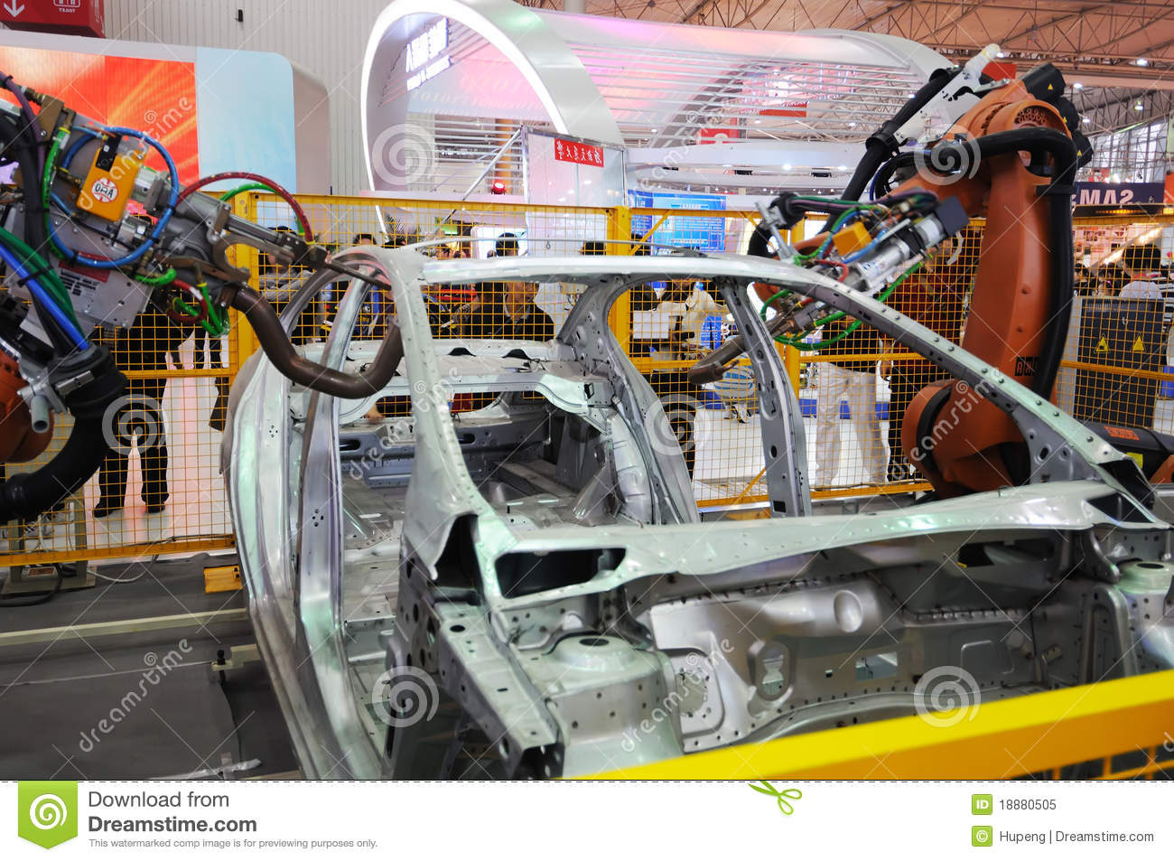Robot Arm Used In Car Construction Editorial Image Image