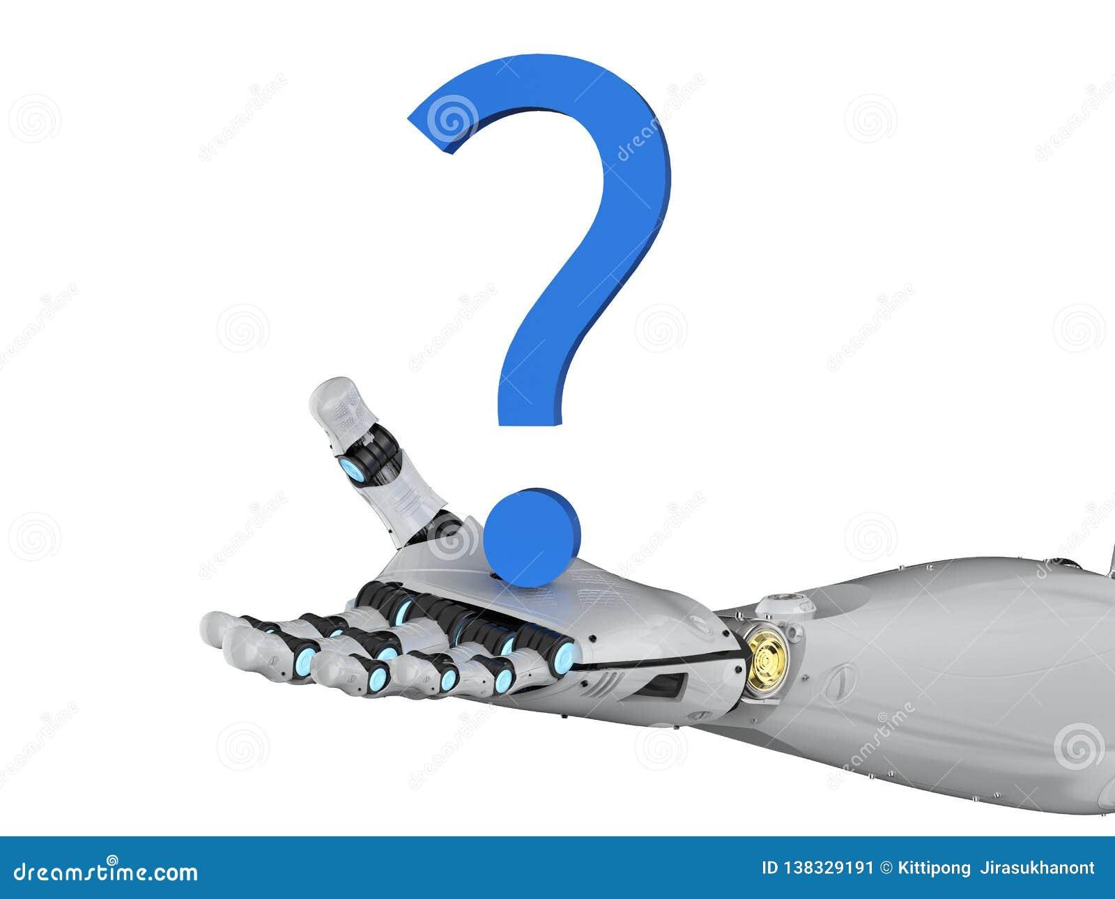 Robot avec le point d interrogation