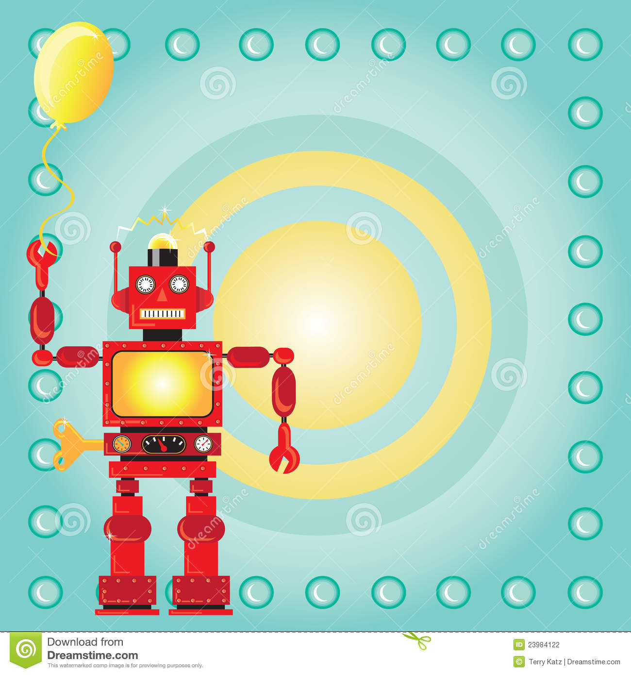 Birthday Card Robot Image Image 37726471 – Robot Party Invitations