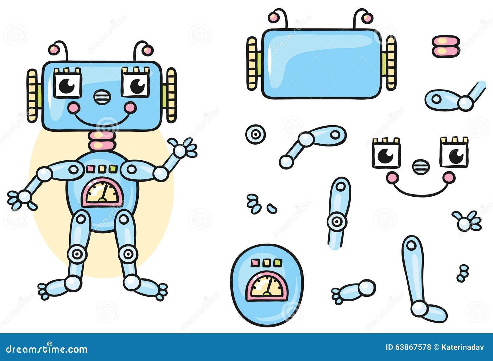 assemble robot body stock photo cartoondealer com 66146496 circuit board clip art free circuit board pattern clipart