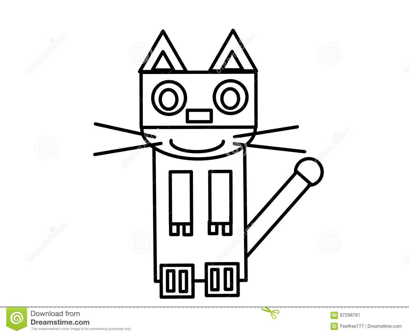robot cat high quality kids coloring pages very you can use work all your needs such as books web design presentations