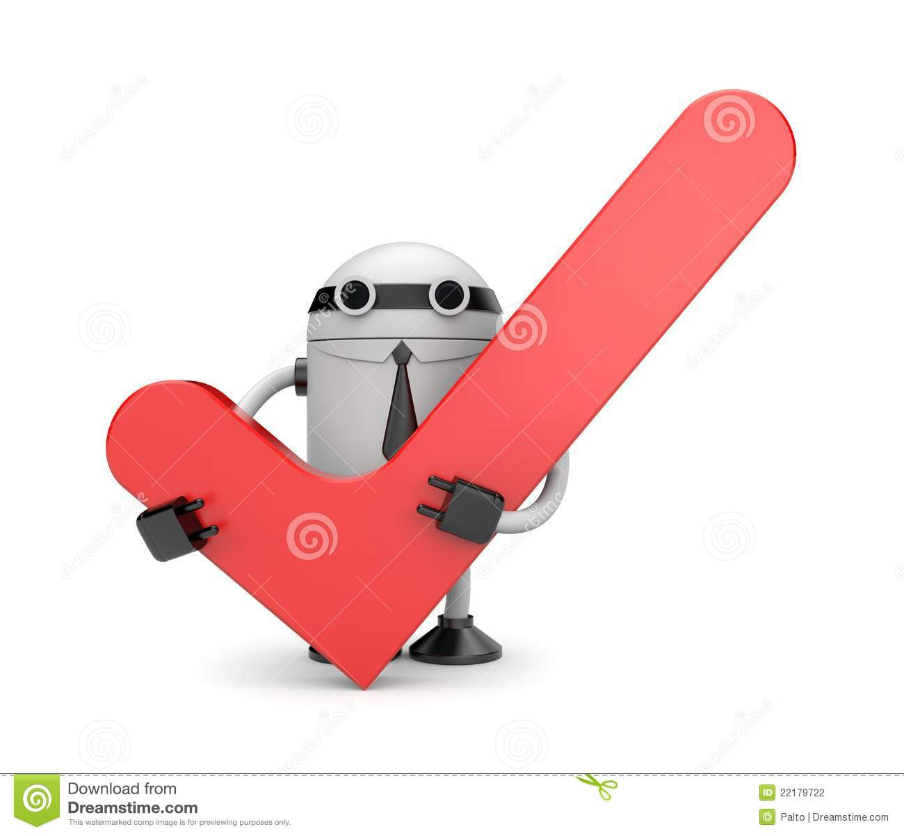 robot with check stock photography   image 22179722
