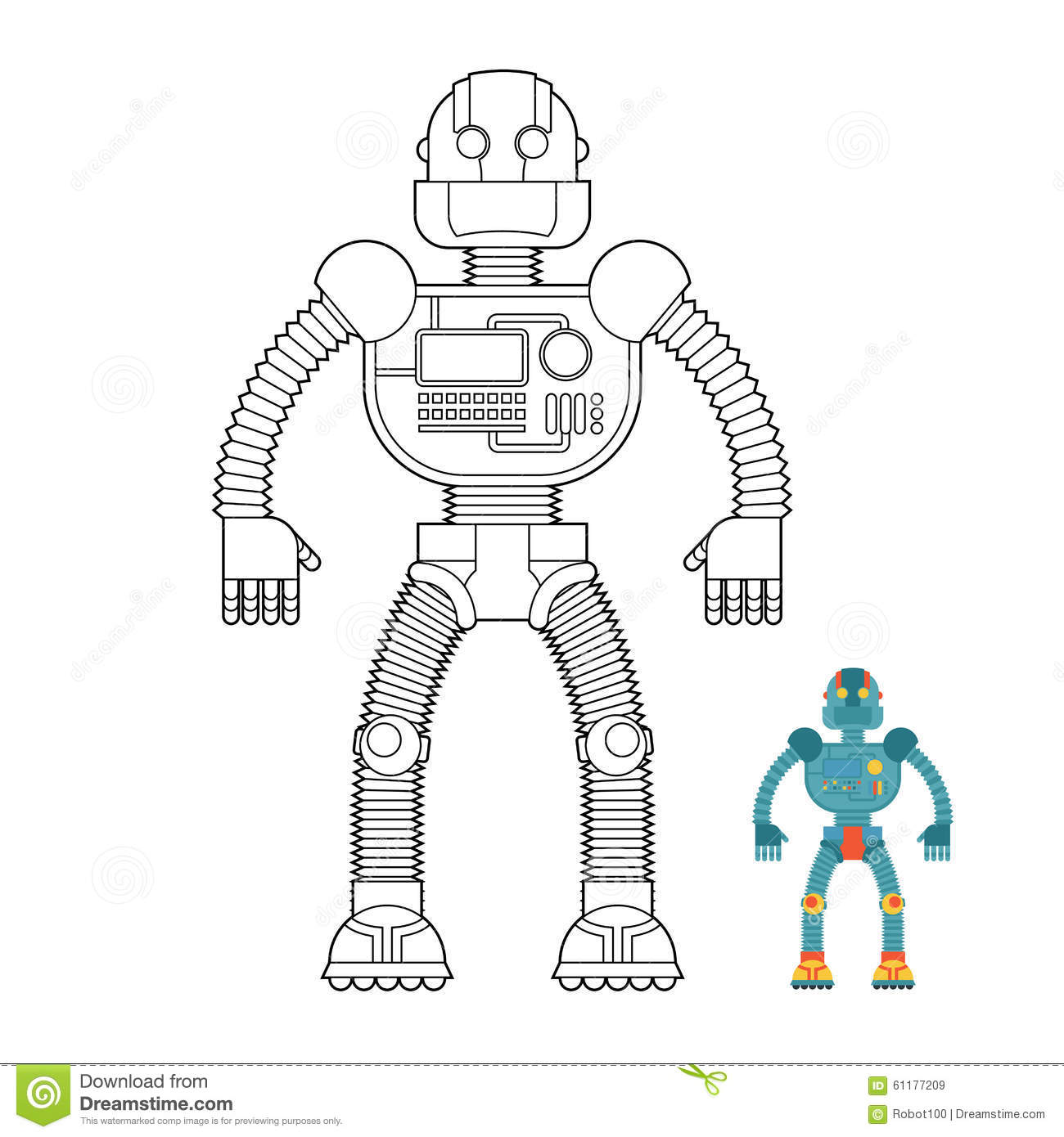 robot coloring book cyborg technological machine humanoid ma