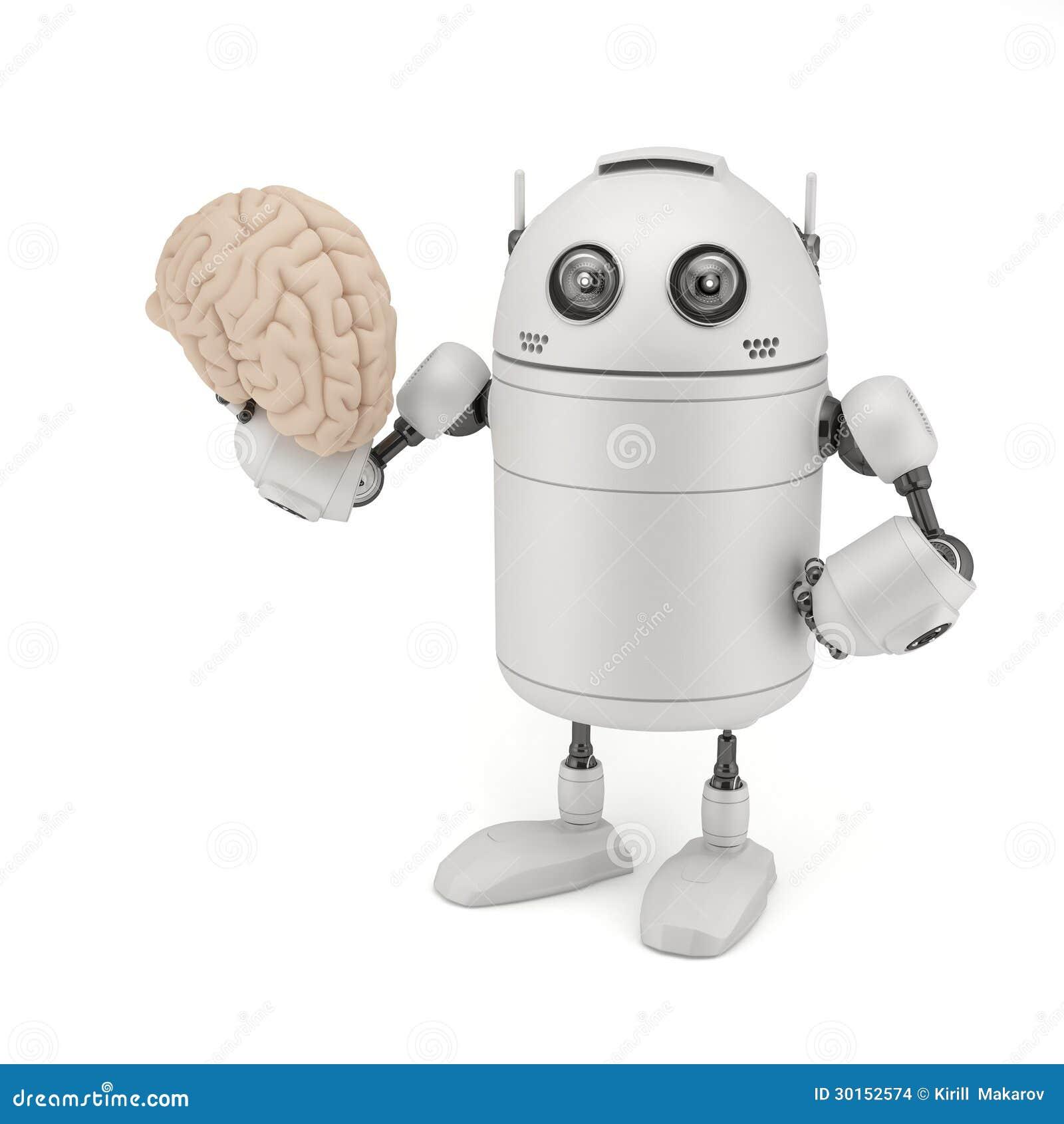 Robot con el cerebro.