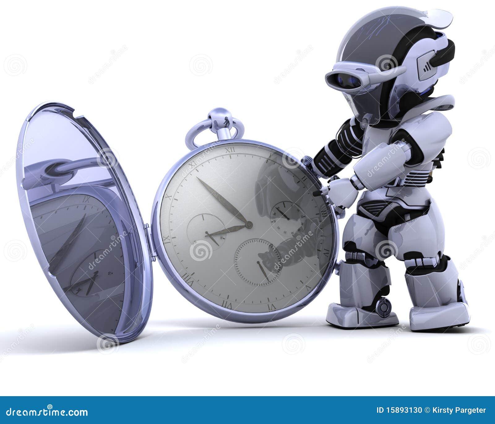 Robot con la vigilanza di casella classica