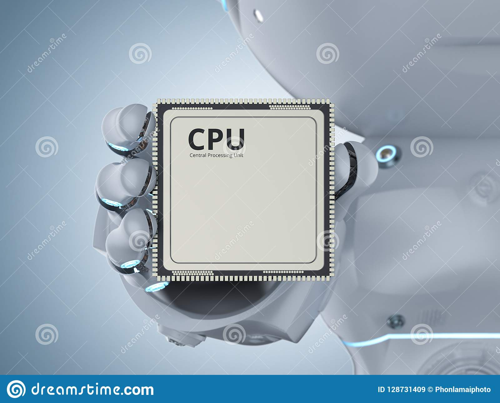 Robot with cpu chip