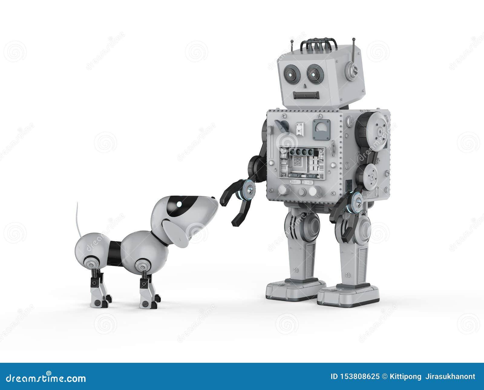 Robot cyny zabawka z psem