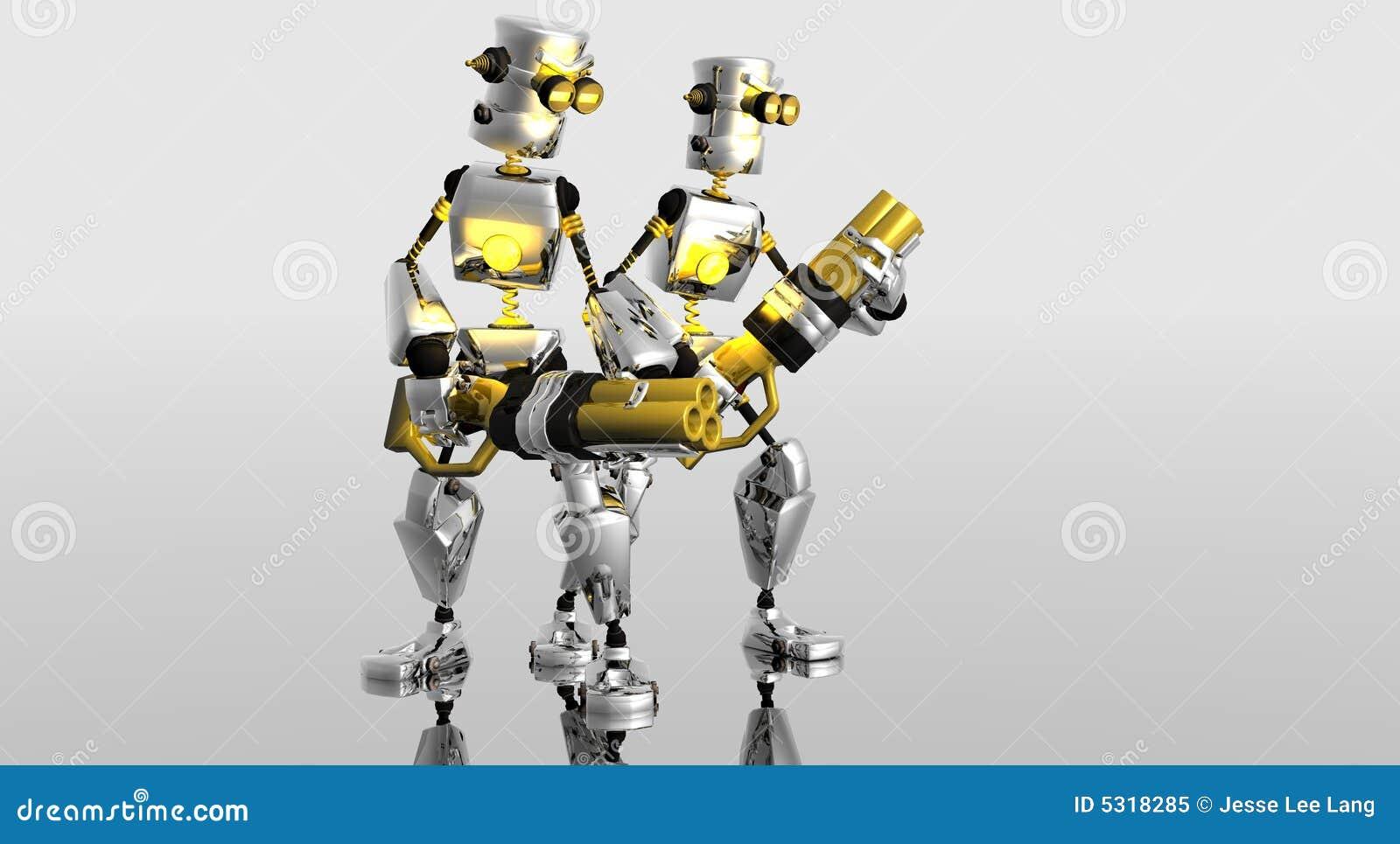 Download Robot Del Fumetto Con Le Pistole Illustrazione di Stock - Illustrazione di futuro, carattere: 5318285