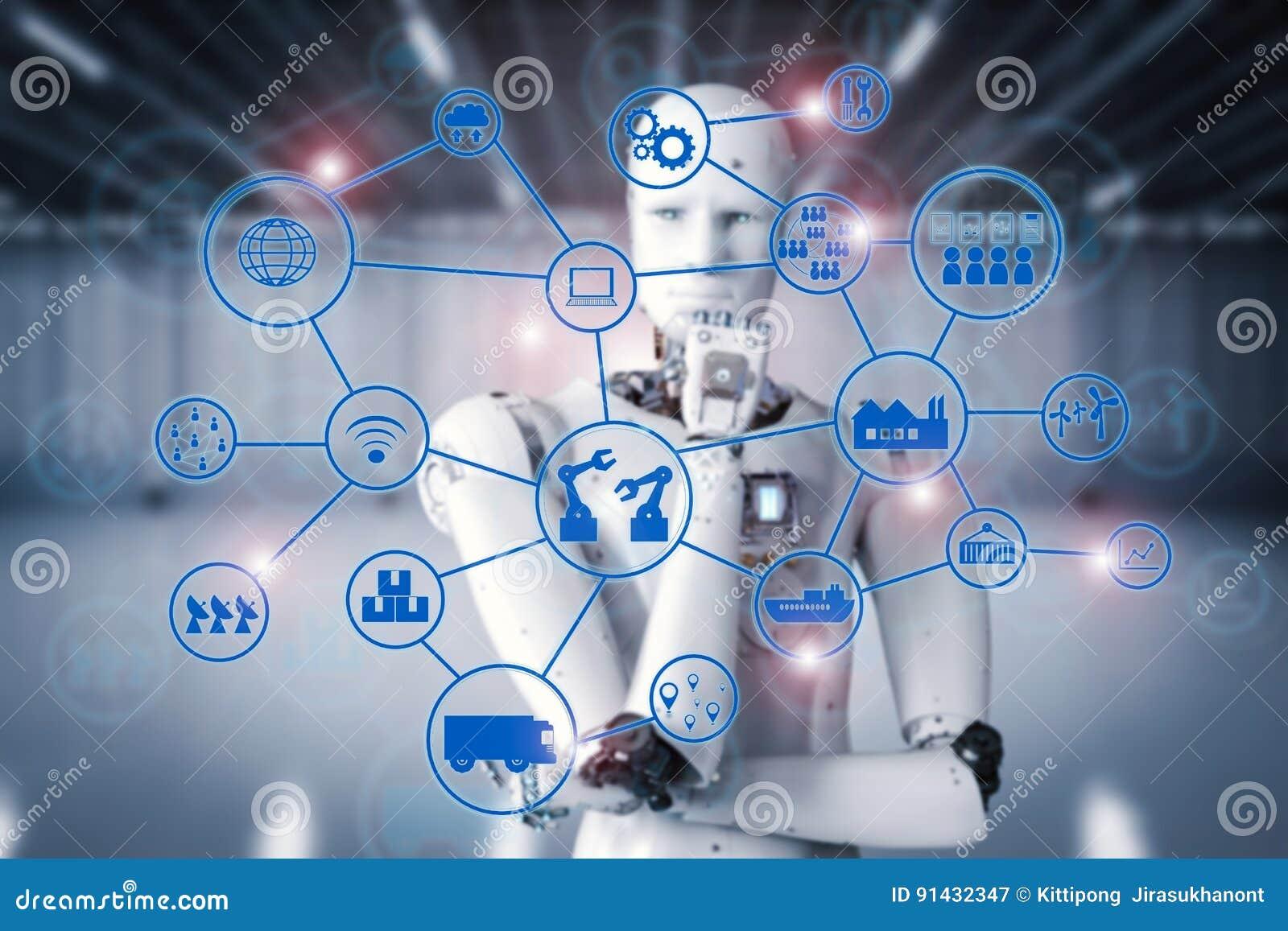 Robot di Android con la rete industriale