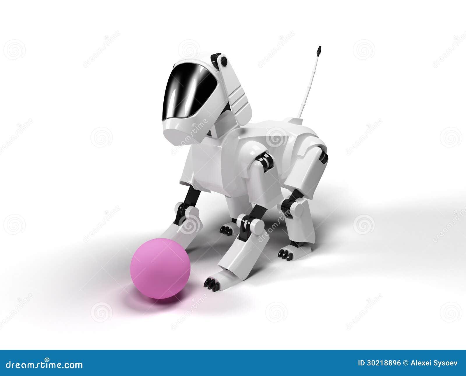 Robot Dog Toy Pink