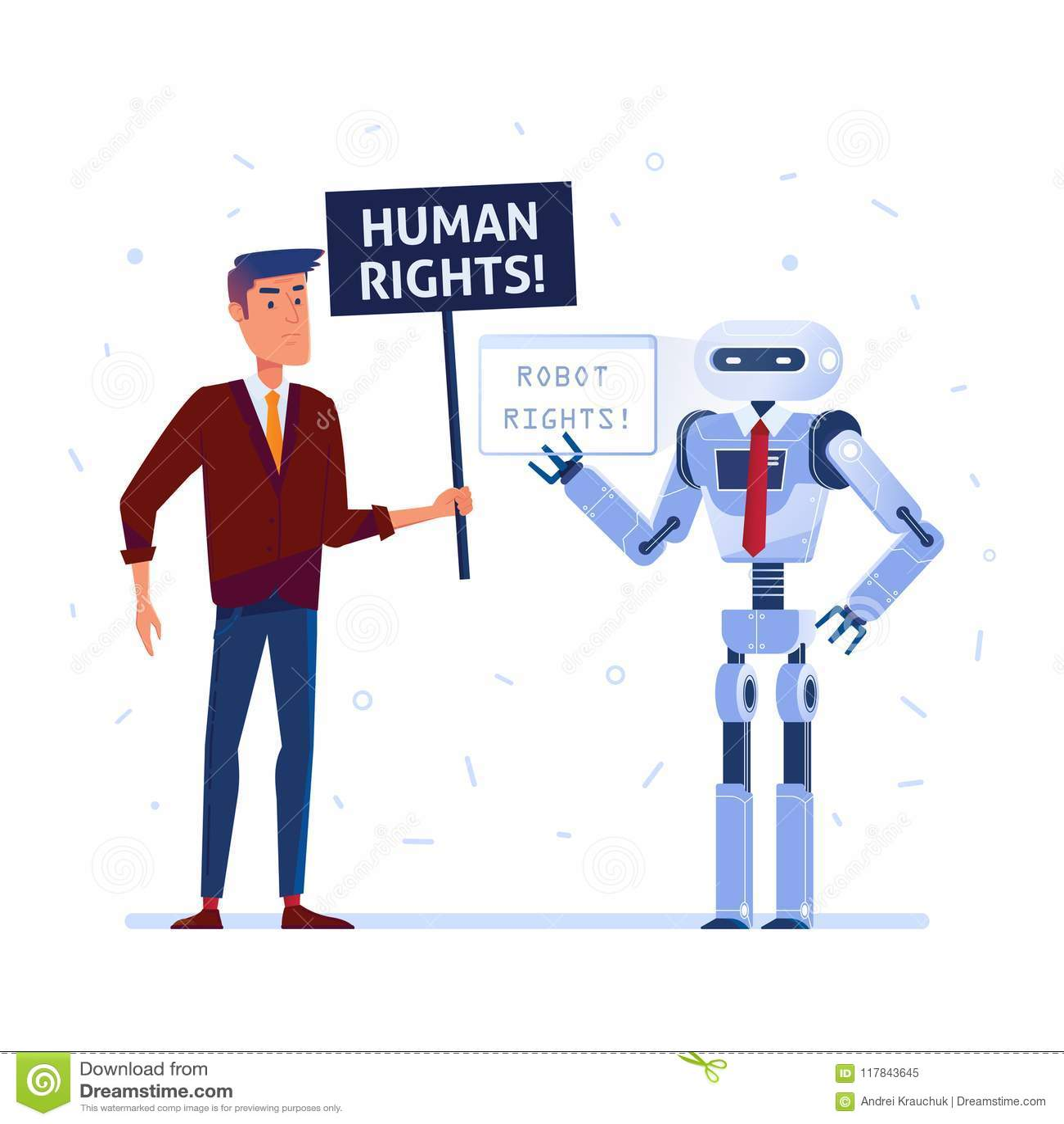 Robot e combattimento umano per i diritti