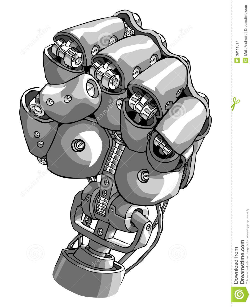 ... robot overlords? Its a robot hand making a fist. Now in vector format