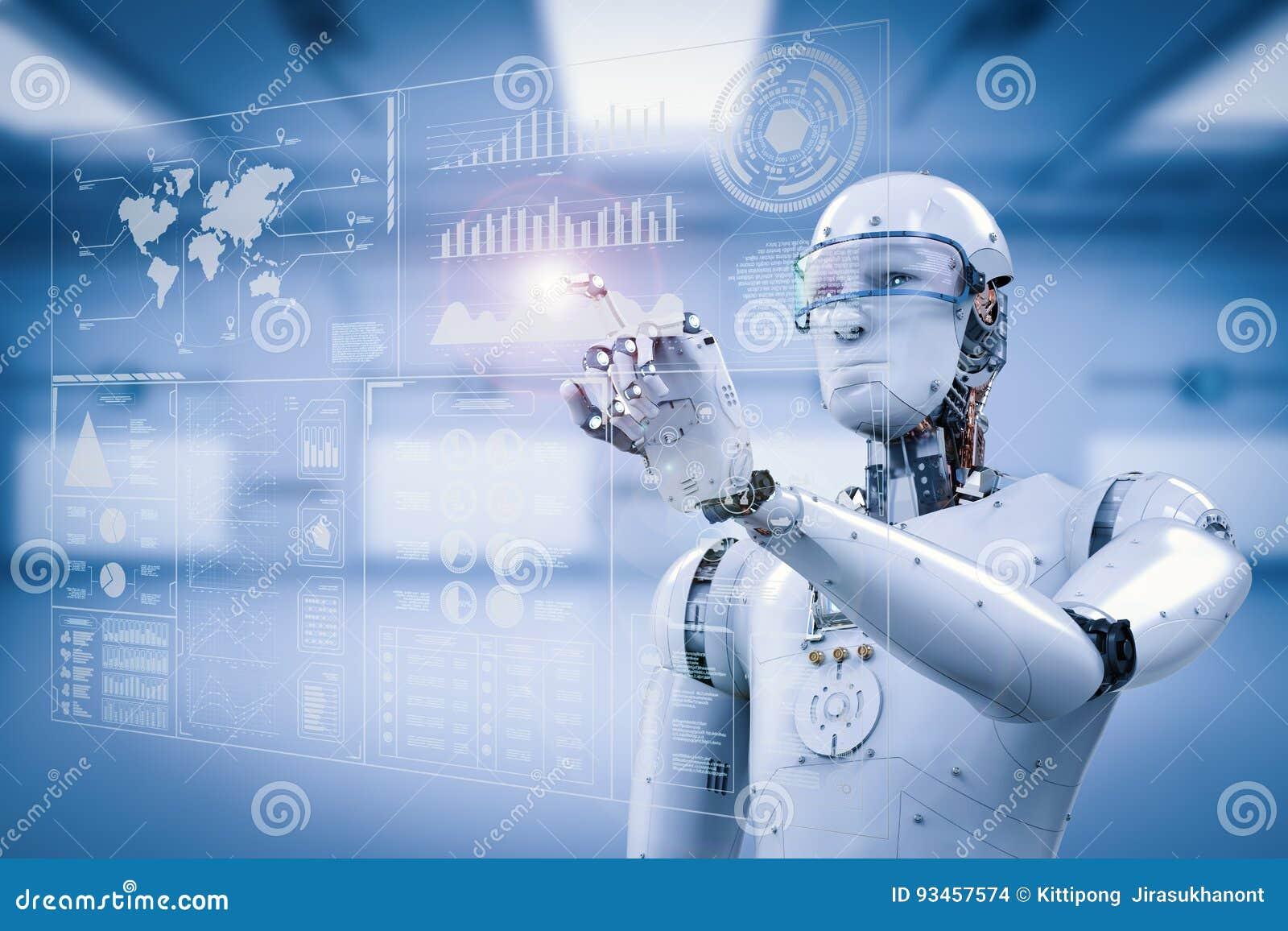 Robot fonctionnant avec l affichage numérique