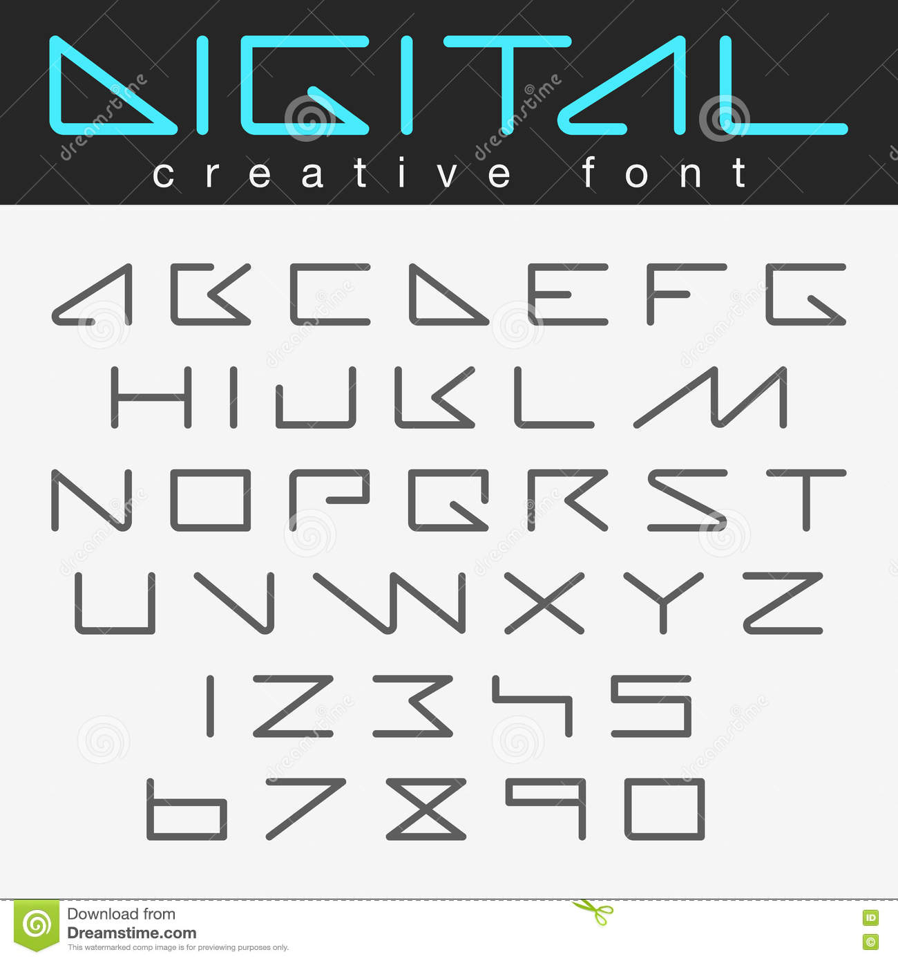 Robot Futuristic Font Design Future Letters Numbers Stock ...