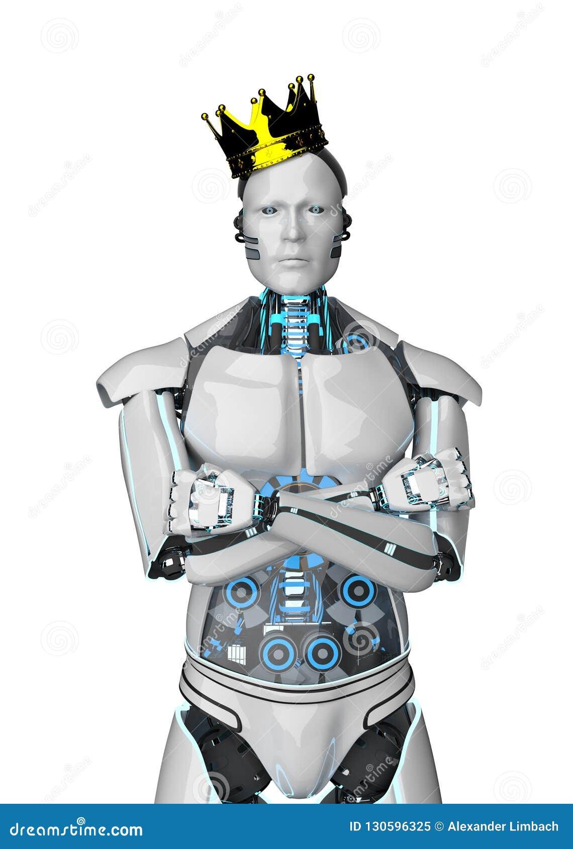 Robot golden crown