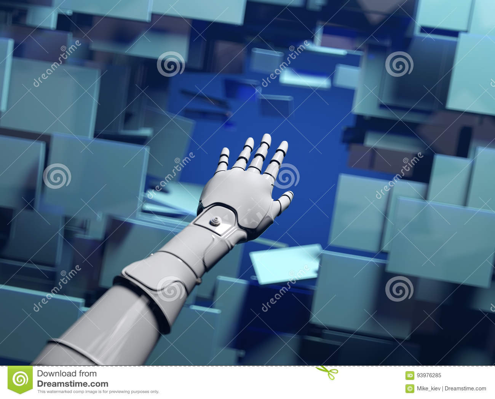 Robot hand passes through a barrier
