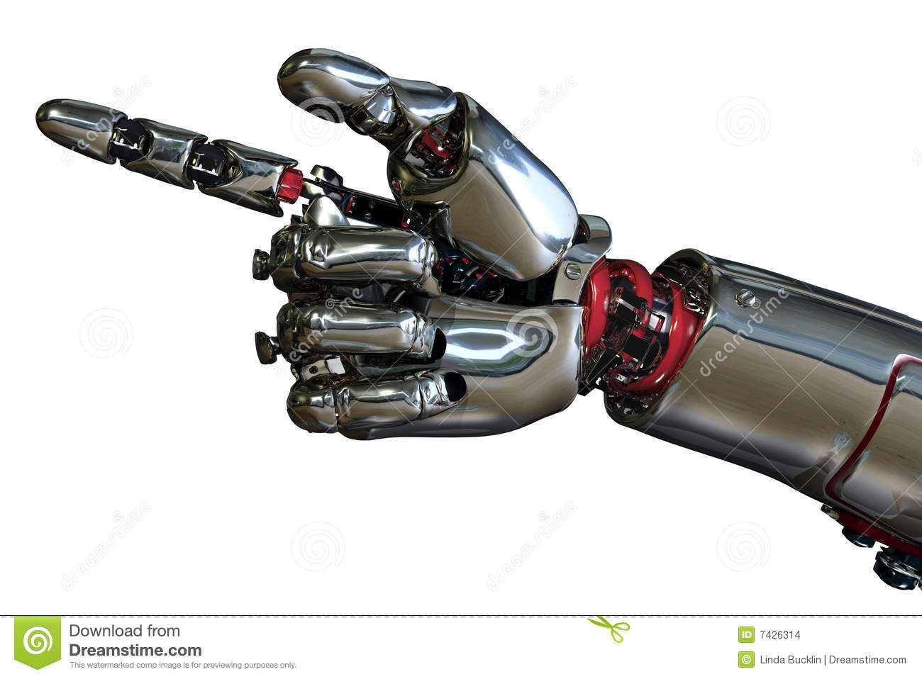 Robot Hand Pointing Stock Images - Image: 7426314