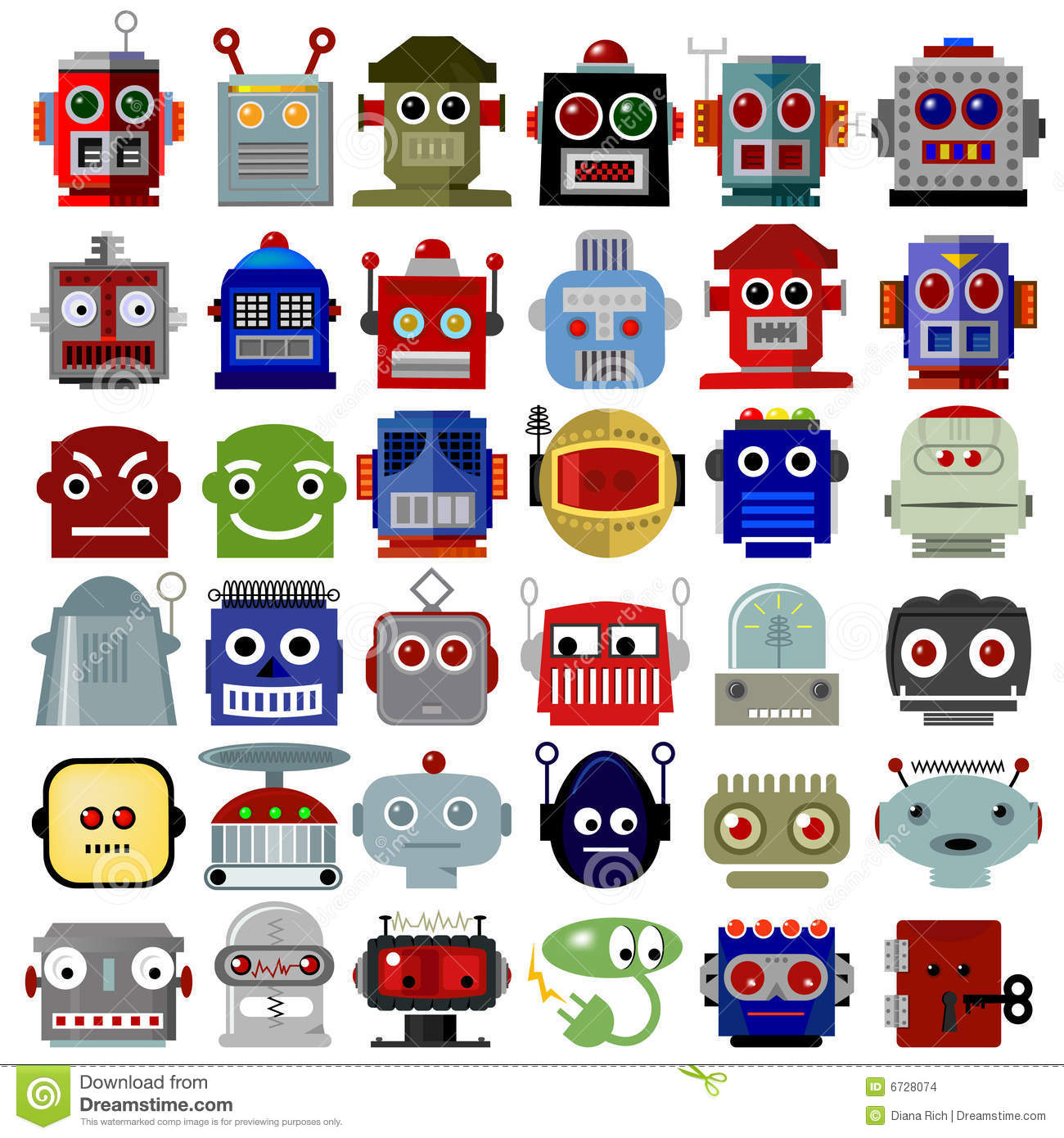 Robot Head Icons Stock Vector Illustration Of Icon Power