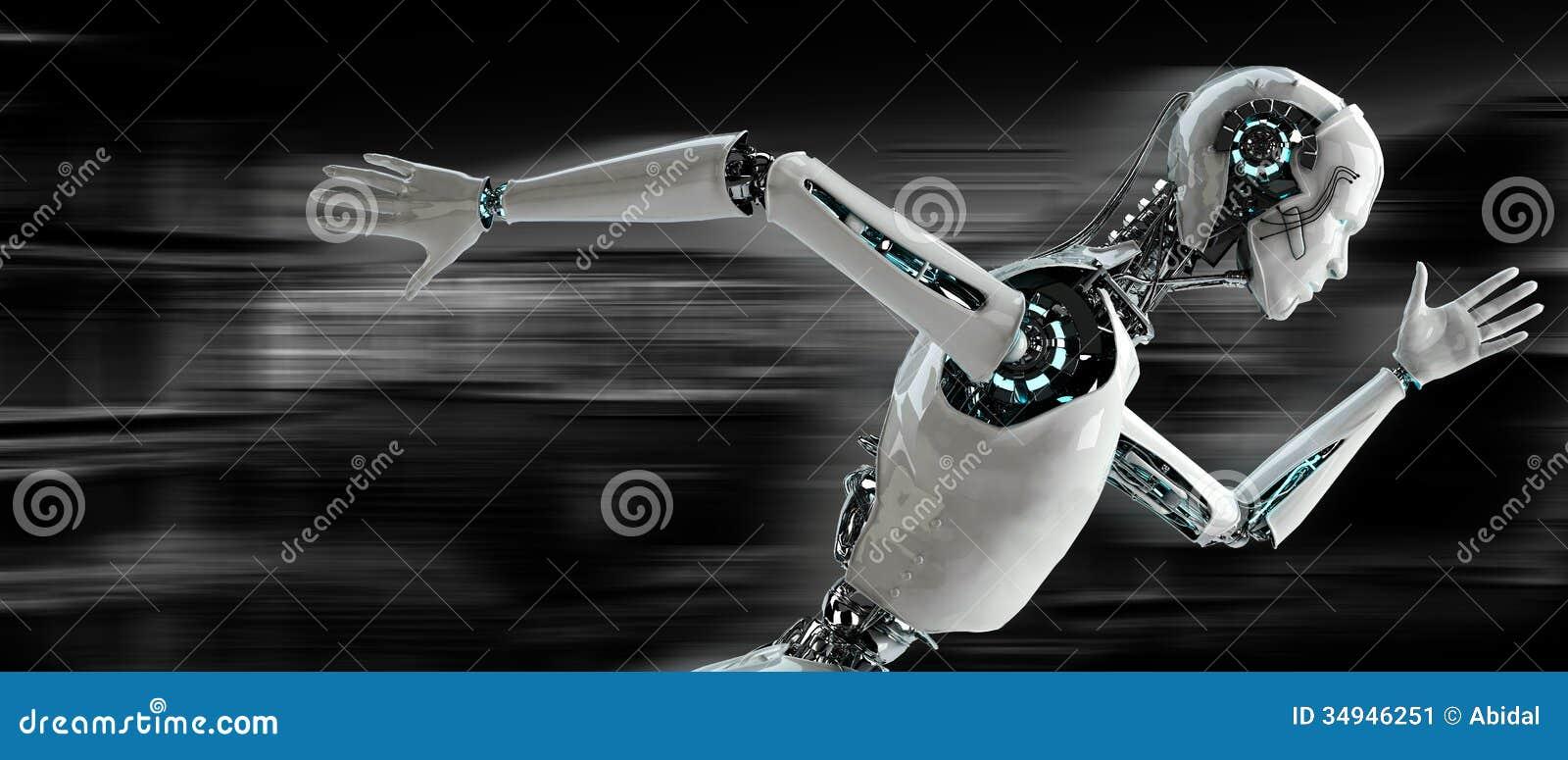 Robot het androïde lopen