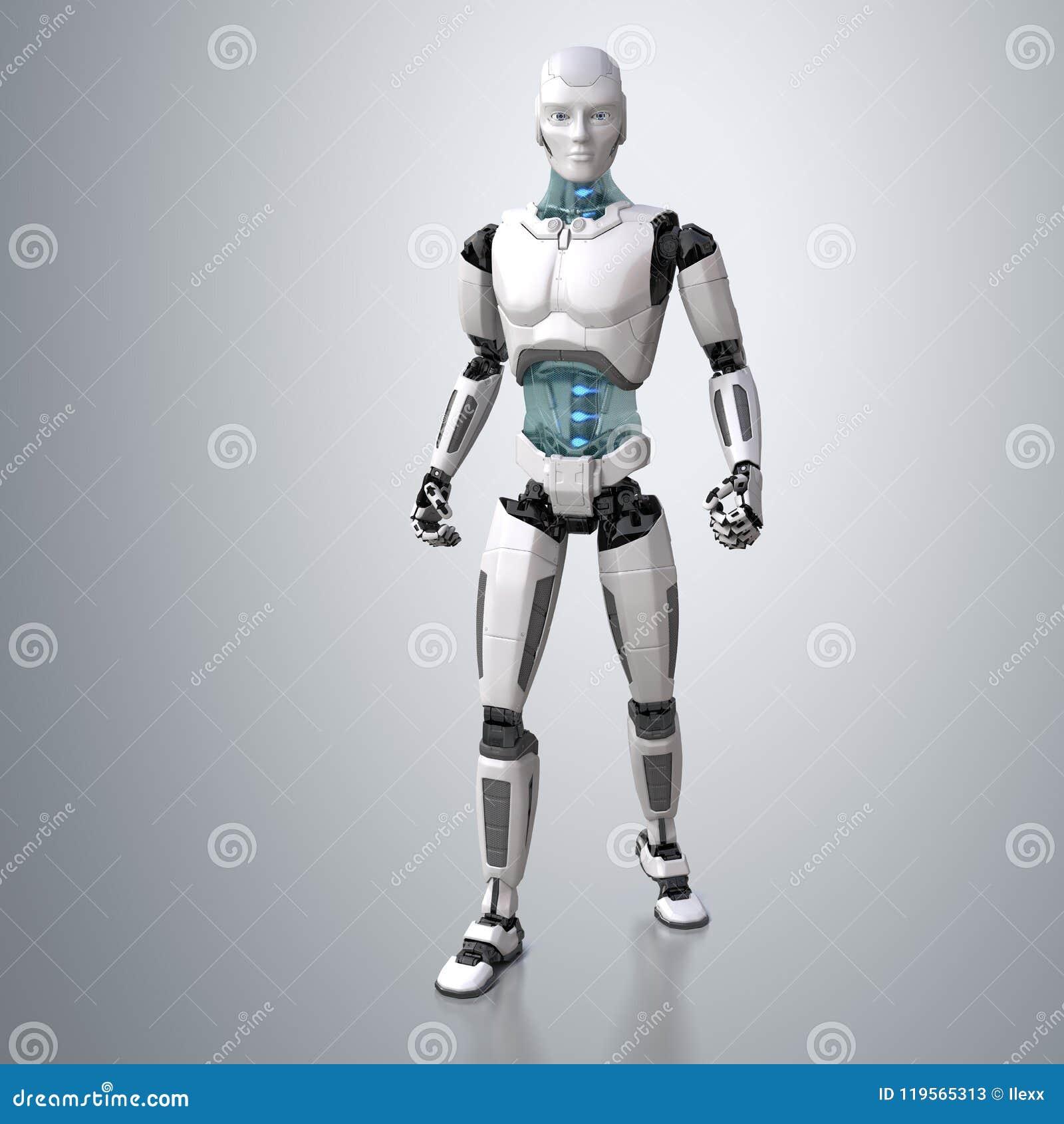 Robot het androïde stellen