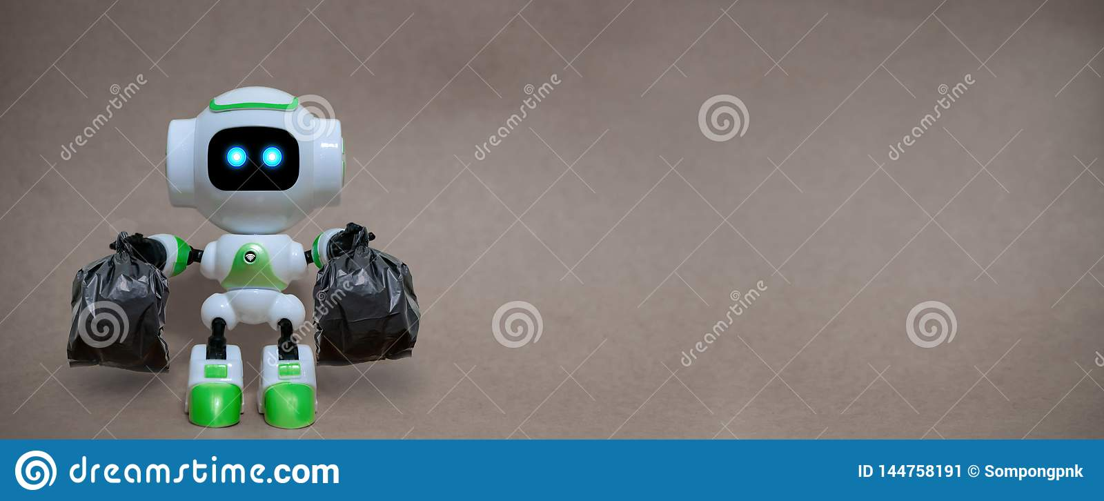 Robot hold garbage bags technology recycle environment